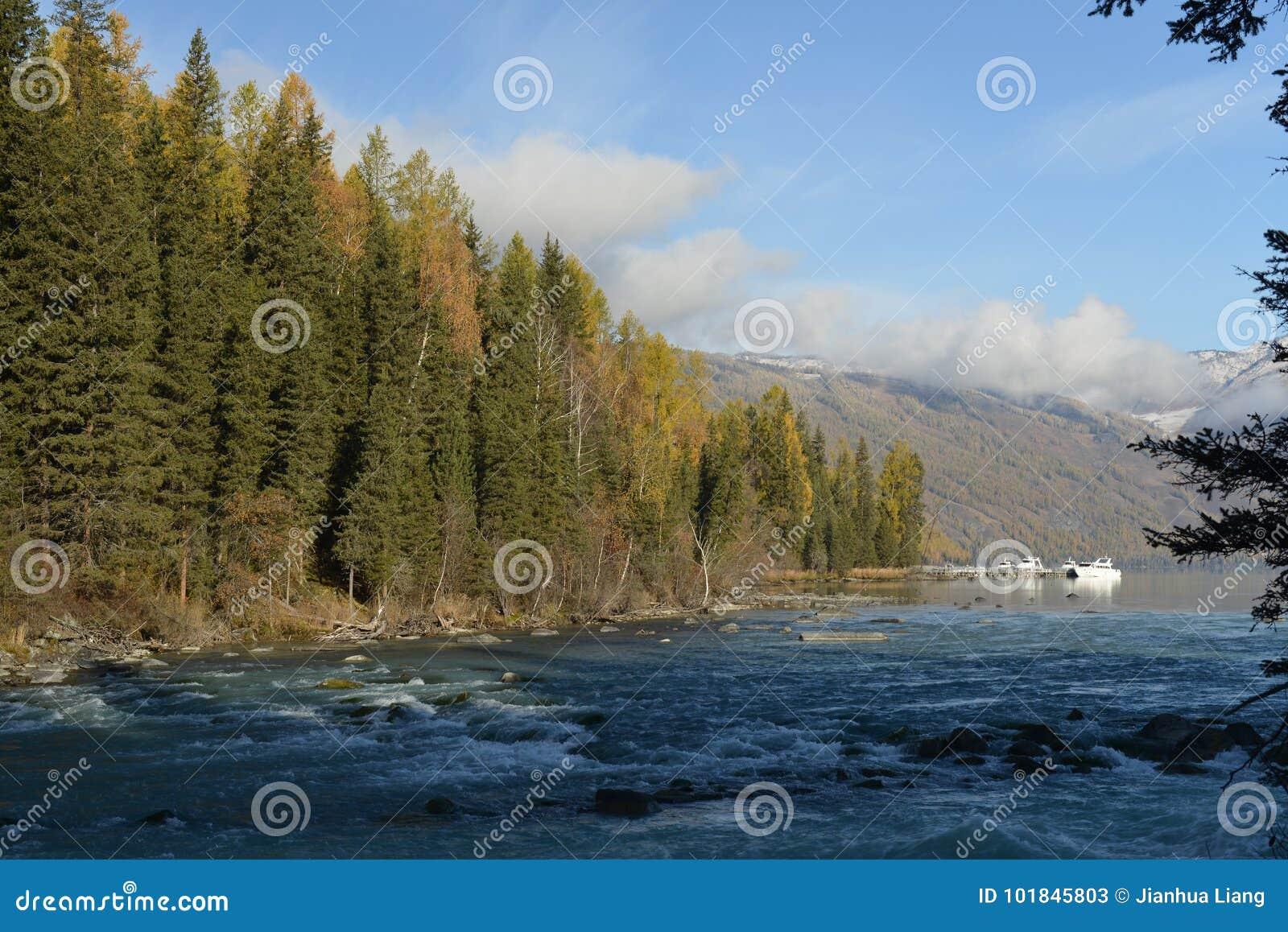 Kanasrivier in Xinjiang China