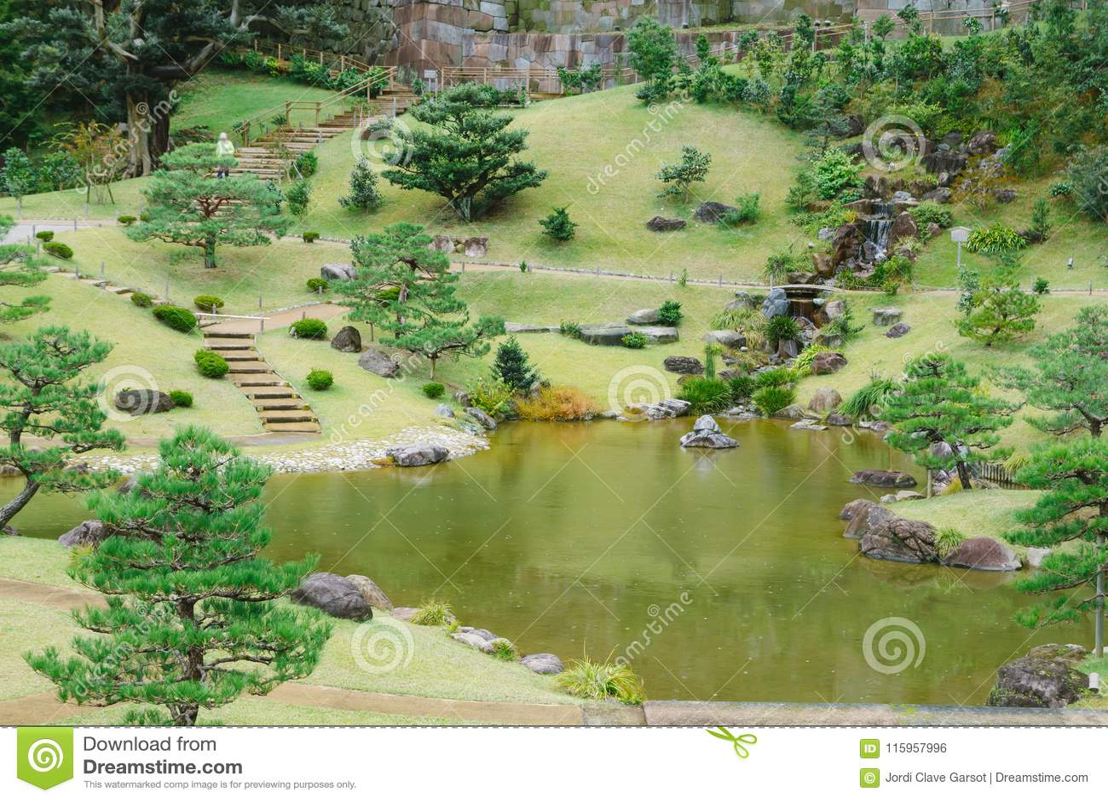 Kanazawa Gardens Japan Stock Photo Image Of Cityscape 115957996