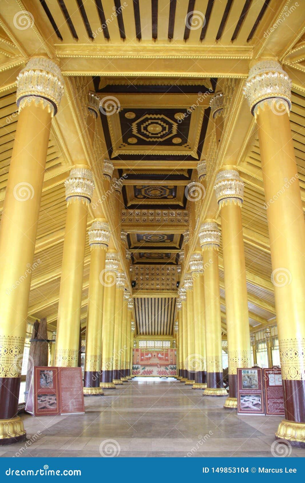 Kanbawza Thadi Golden Palace Bago yagoon, myanmar Burma