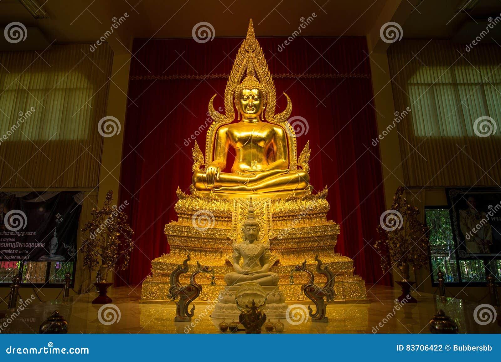 Kanchanaburi, Thailand - December, 26, 2016 :  Golden Buddha Sta Editorial Photography