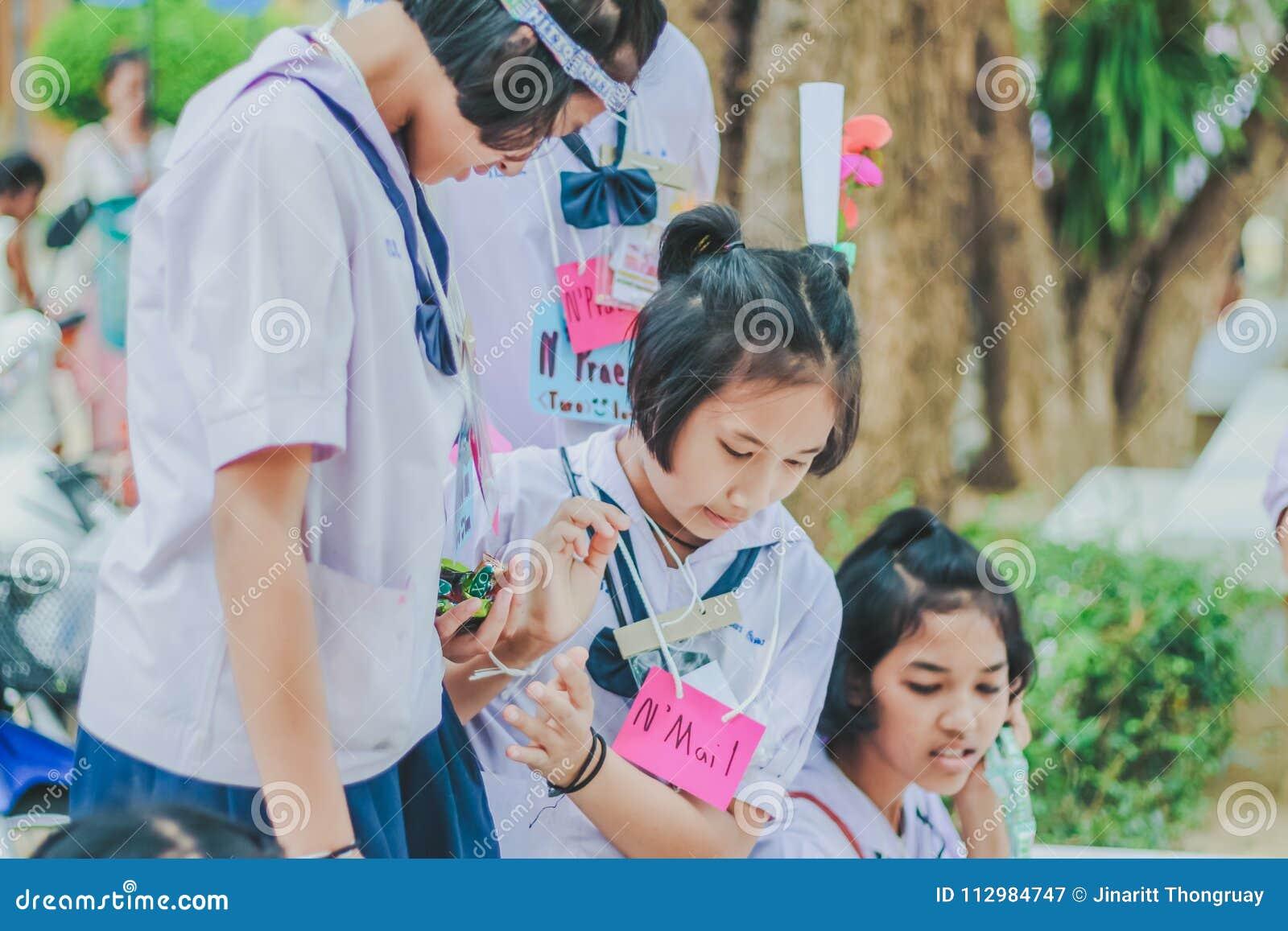 KANCHANABURI THAILAND - MARCH 23 : Wat Krangthong school provid