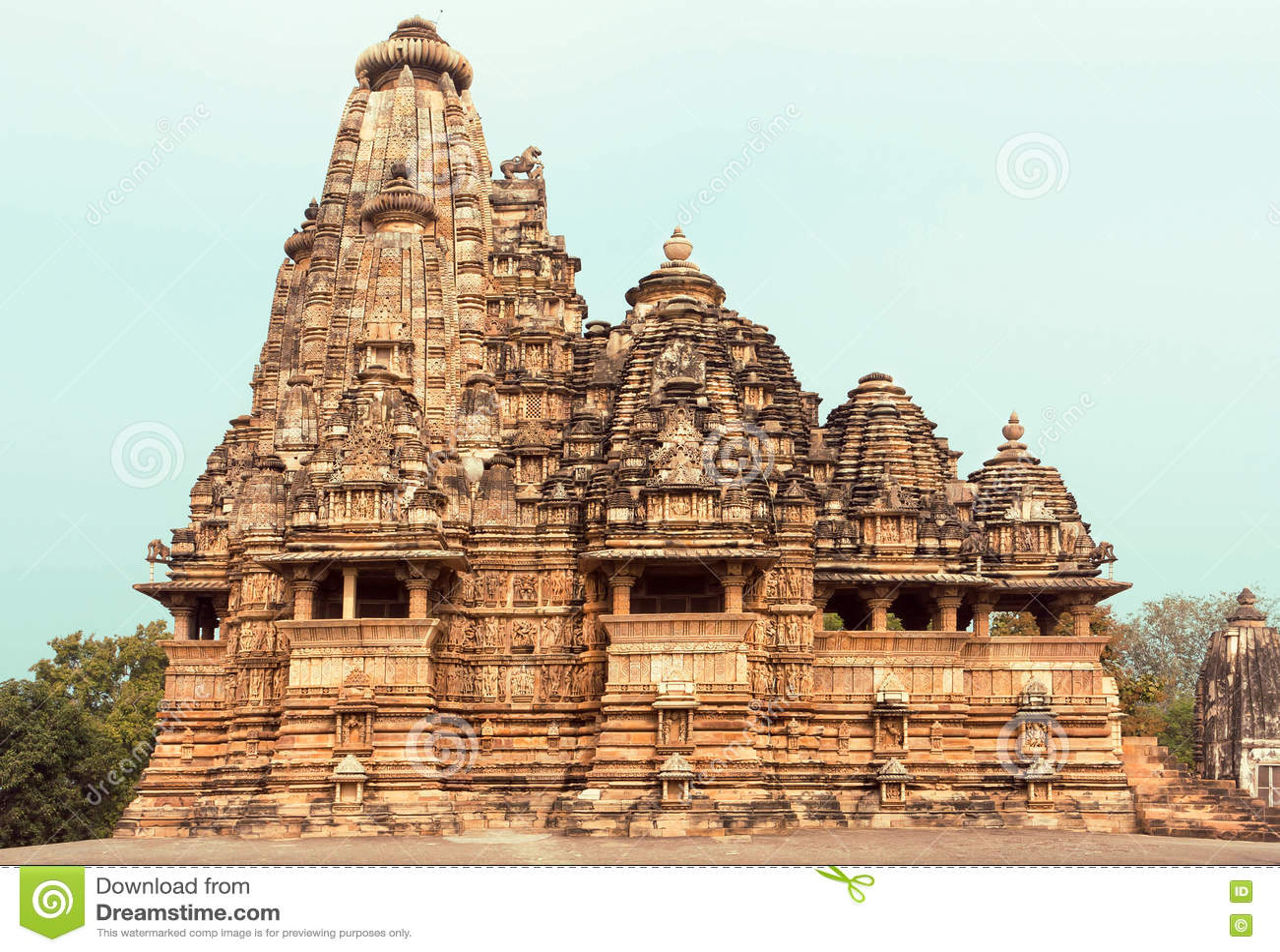 Kandariya Mahadeva寺庙,克久拉霍复合体的结构  印度