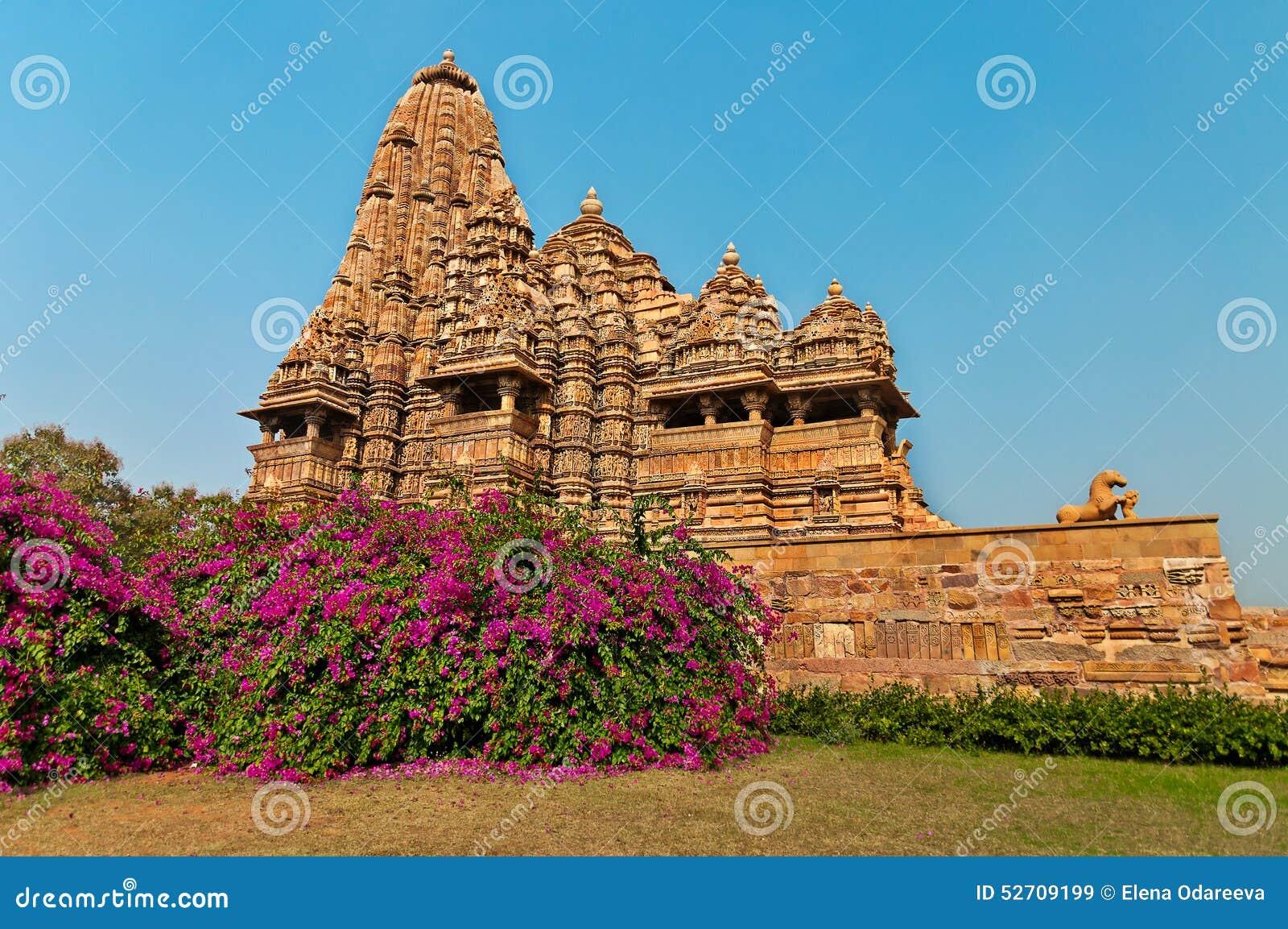 Famous kandariya mahadeva temple in khajuraho india