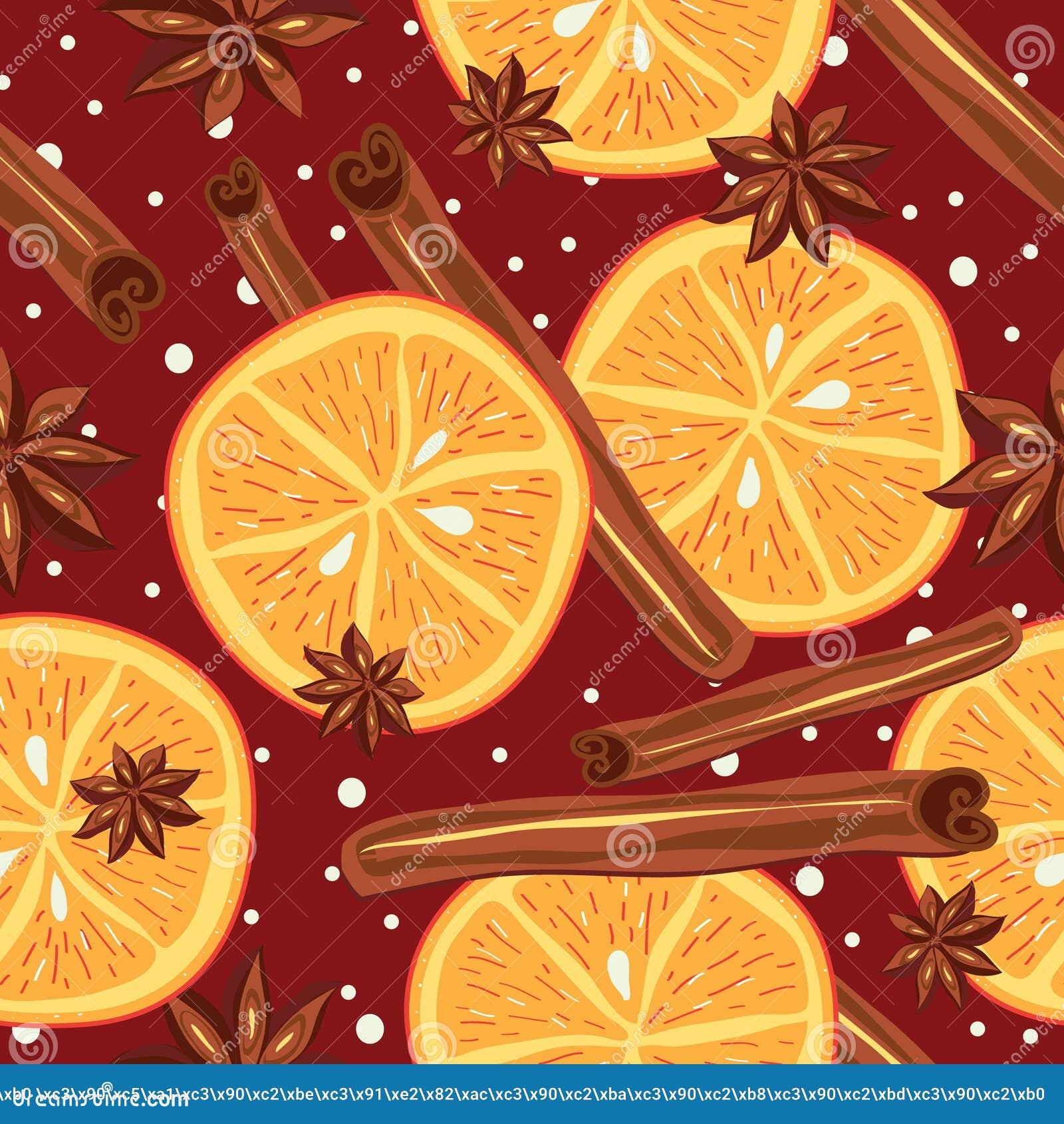 Download Kanel Och Apelsiner, Vektor, Kökbakgrund Vektor Illustrationer - Illustration av illustration, muttrar: 43206980