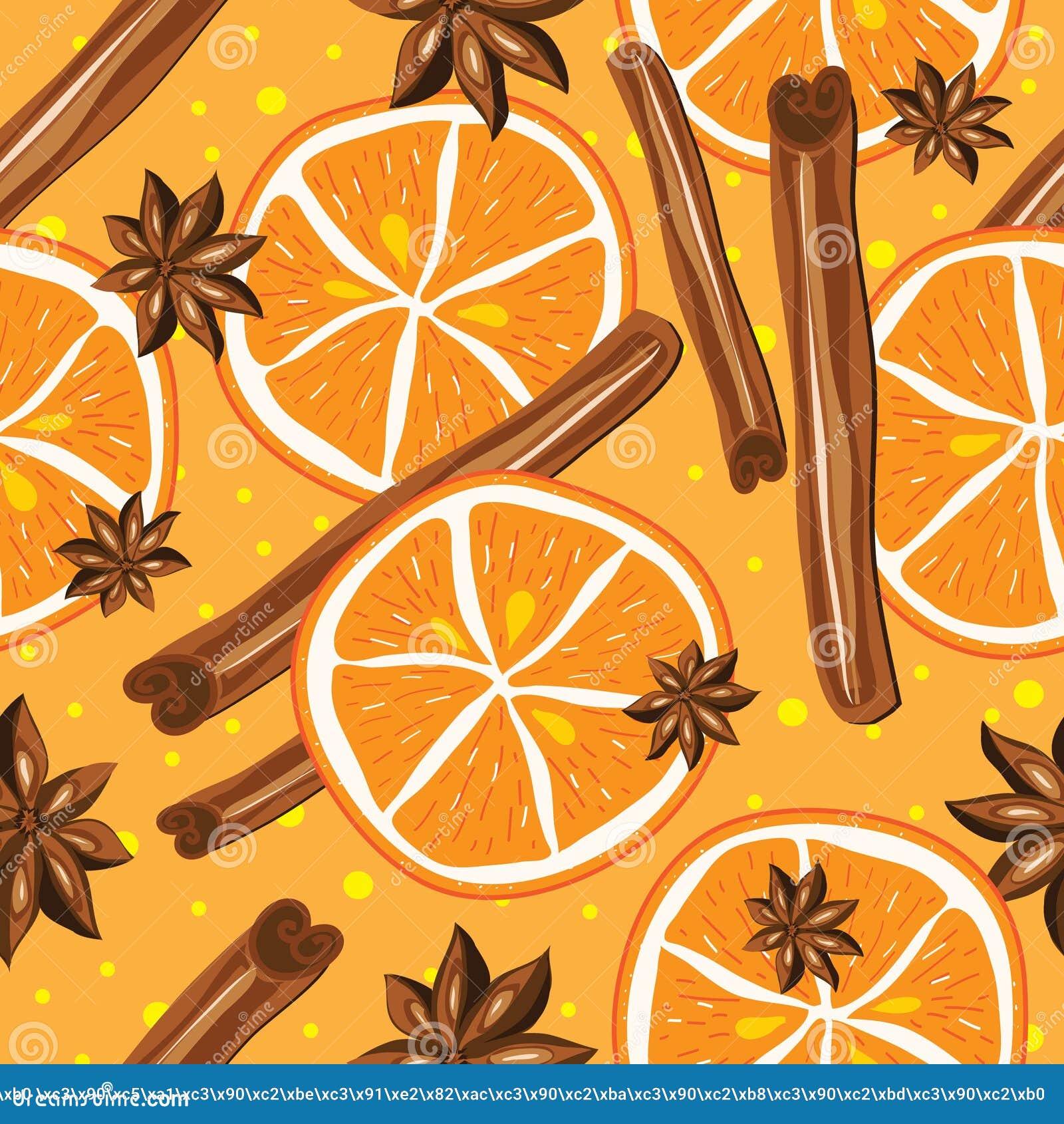 Download Kanel Och Apelsiner, Vektor, Kökbakgrund Vektor Illustrationer - Illustration av torrt, efterrätt: 43207086