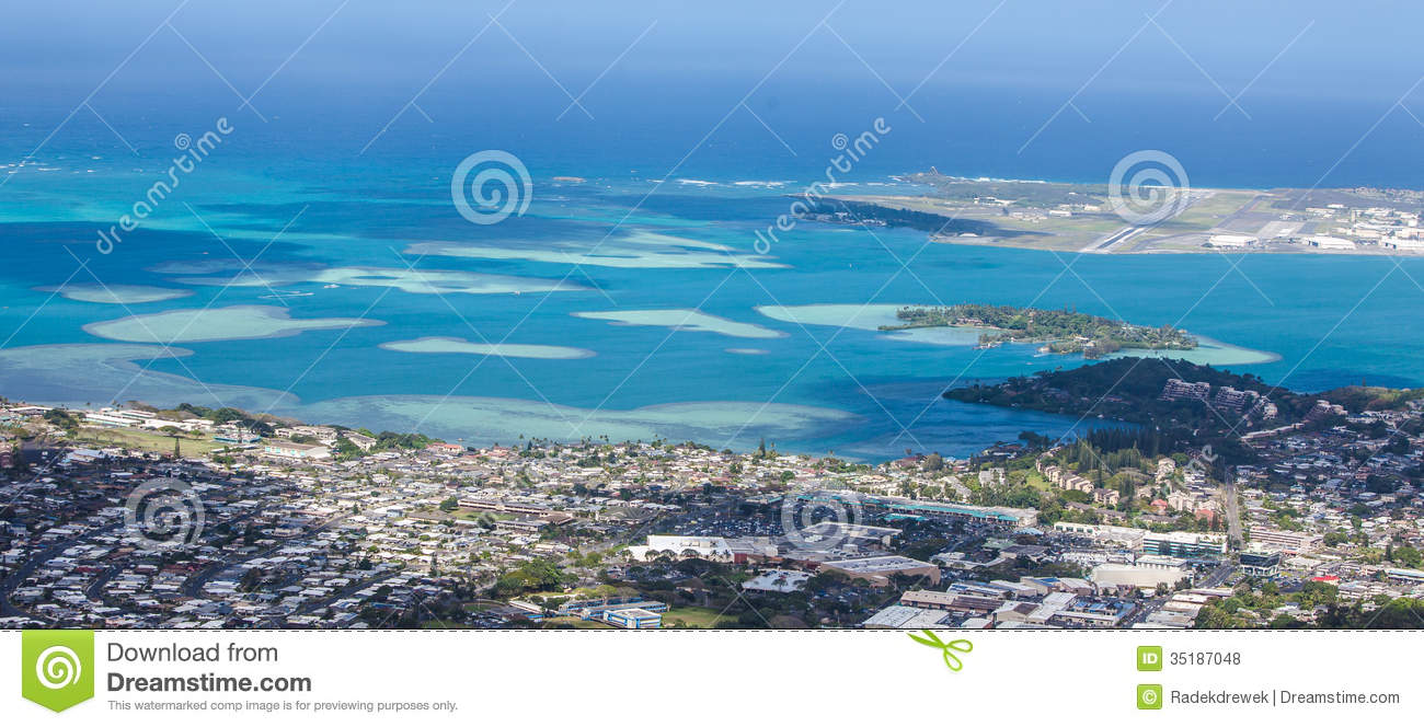 Kaneohe Bay Hawaii Map.Kaneohe Bay Sandbar Stock Photo Image Of Skies Oahu 35187048