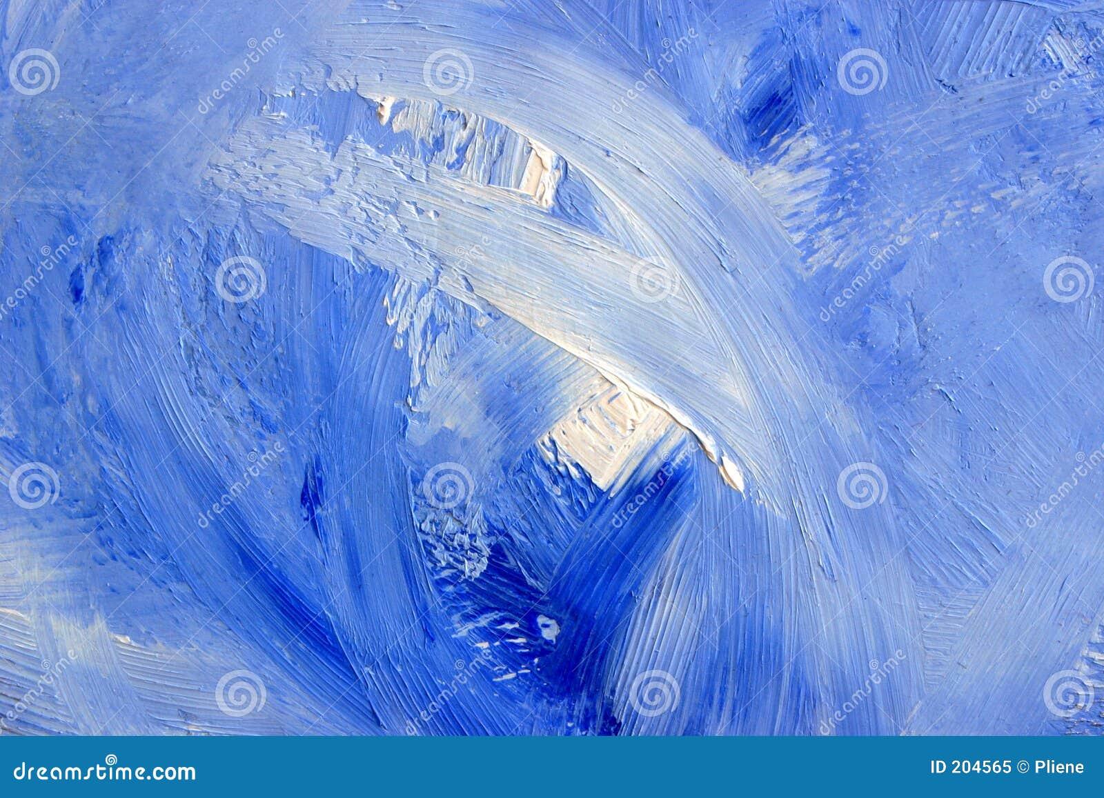 Kanfas för 2 blue som oilpainting