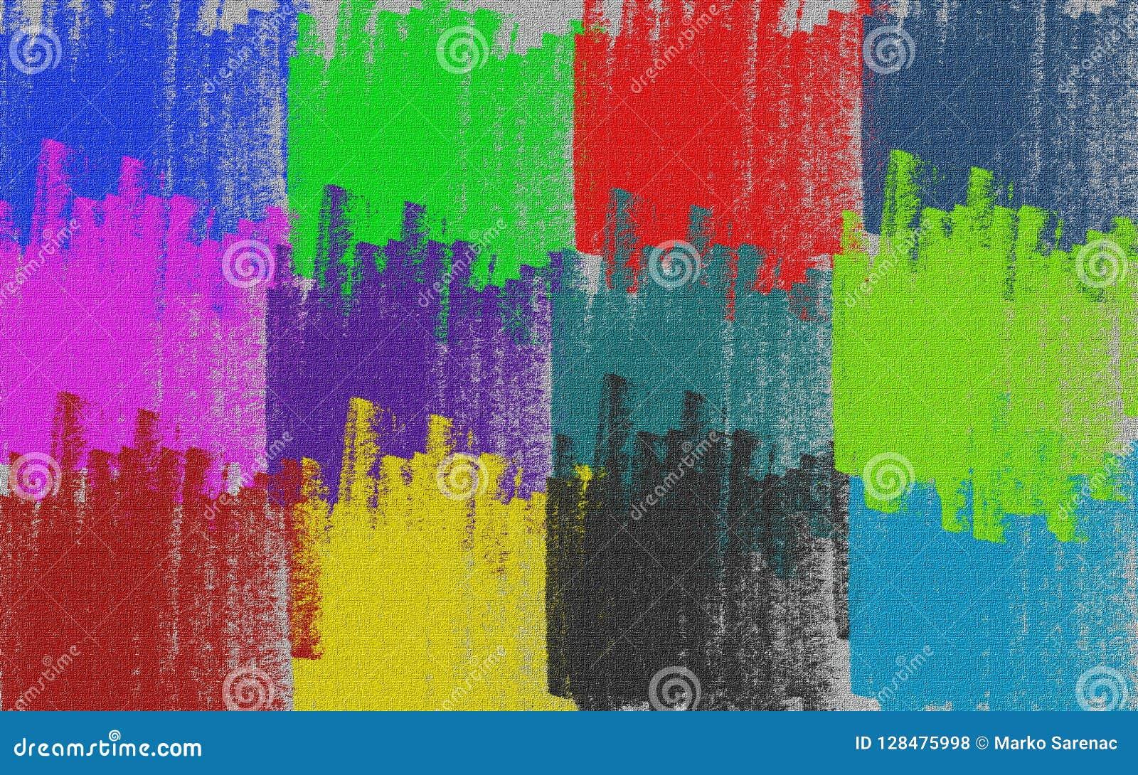 Kanfas mångfärgat crayon Bakgrund