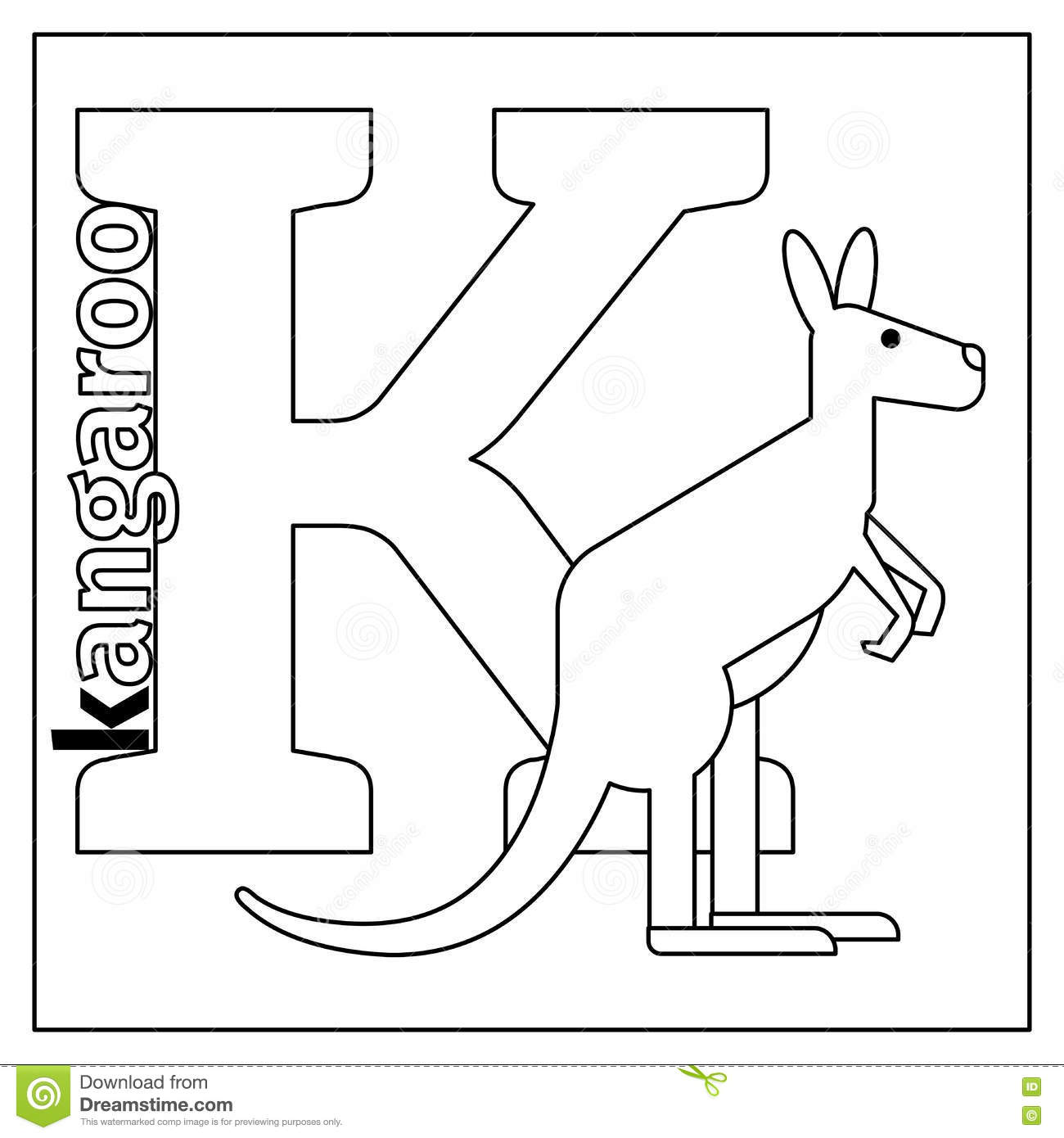k for kangaroo coloring pages - photo#20