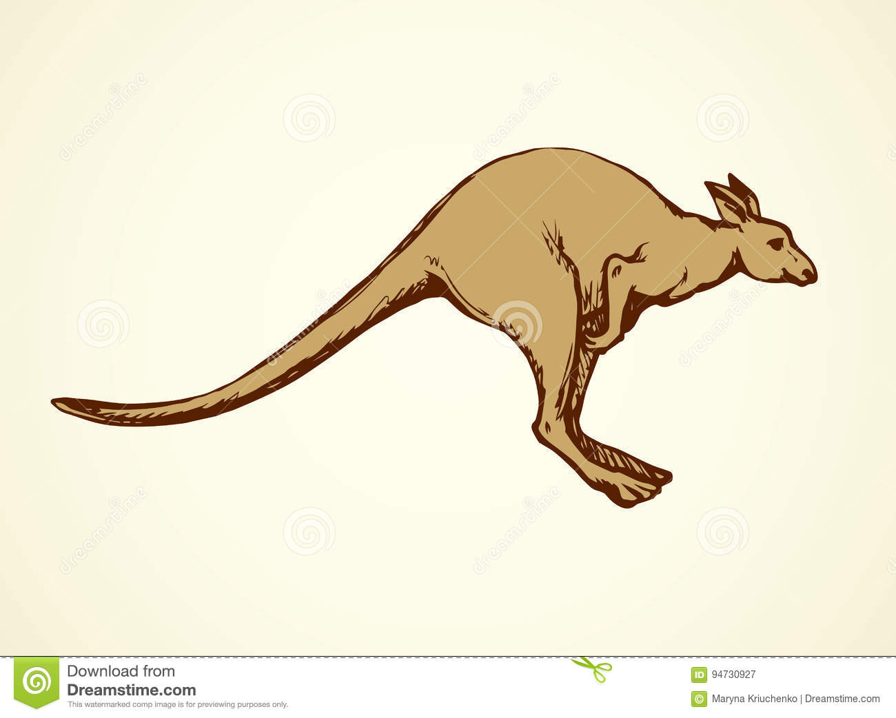kangaroo vector drawing stock vector illustration of creature