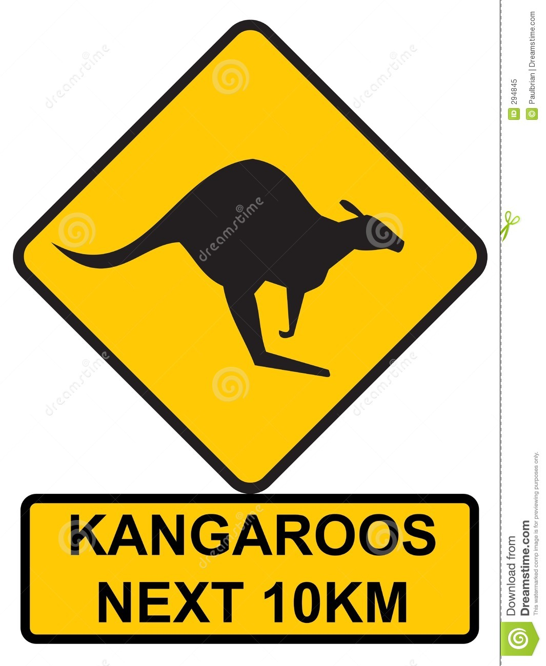 Kangaroos Ahead Royalty Free Stock Photo - Image: 294845