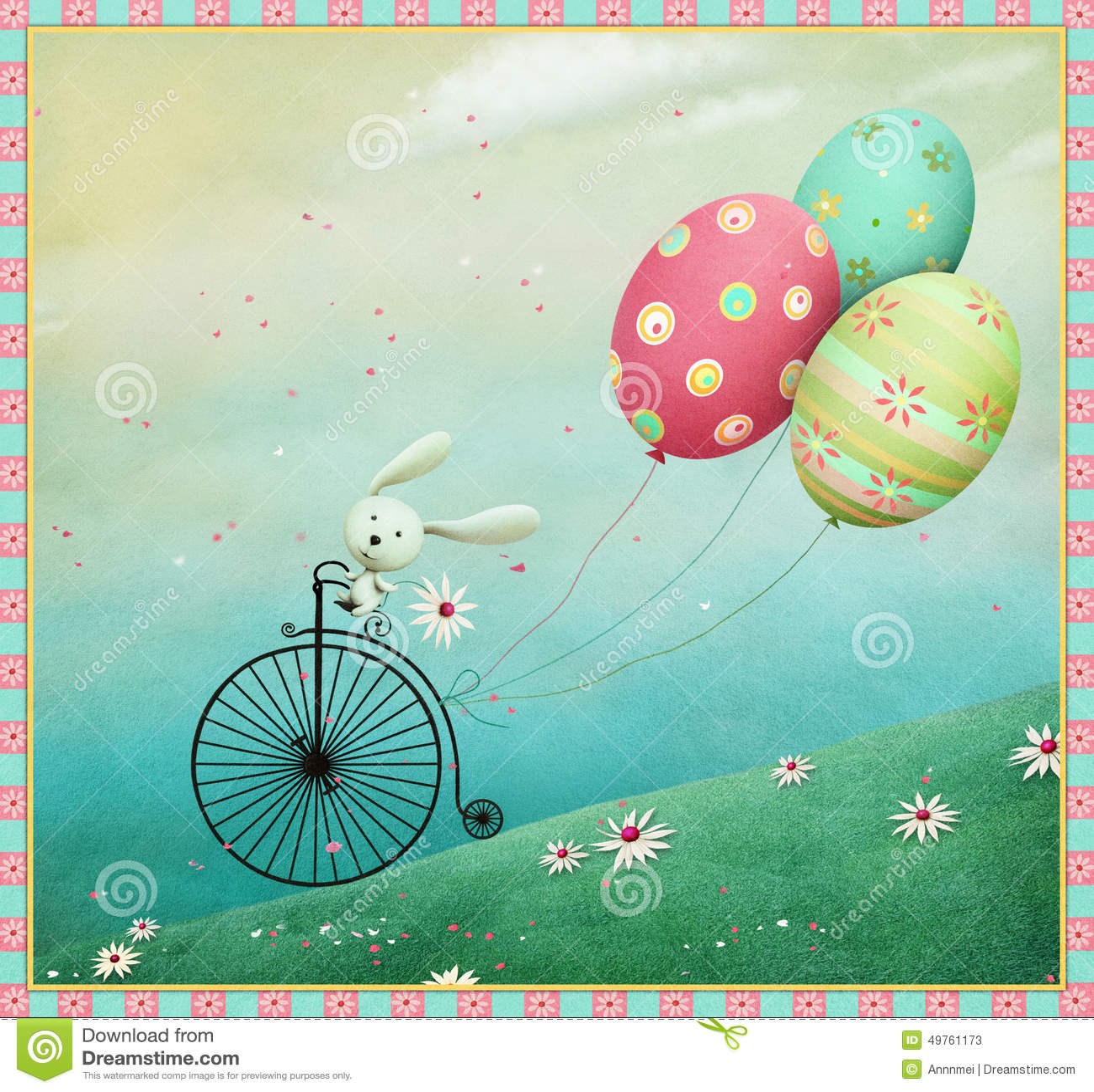 Kanin och cykel