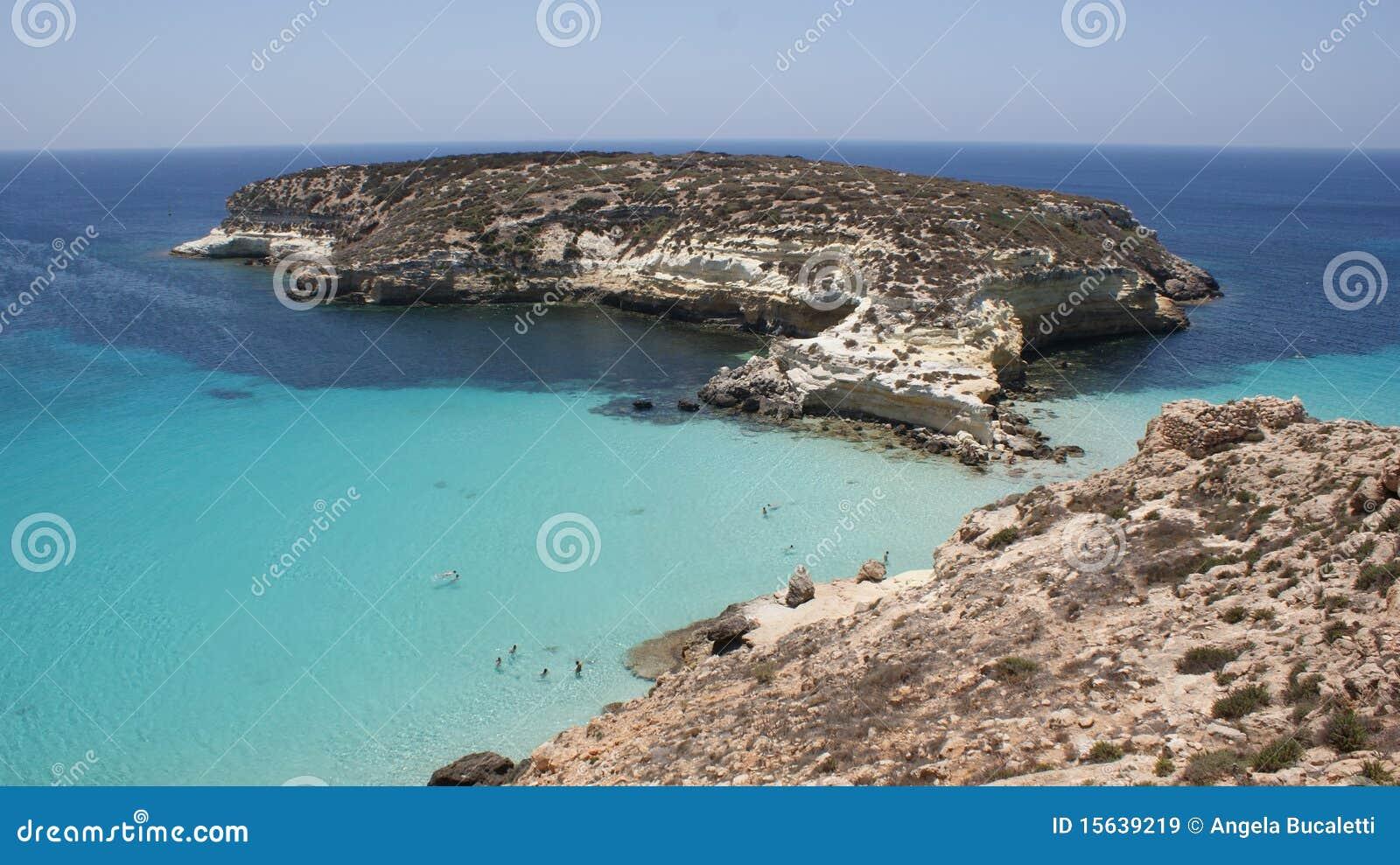 Kanincheninsel in Lampedusa