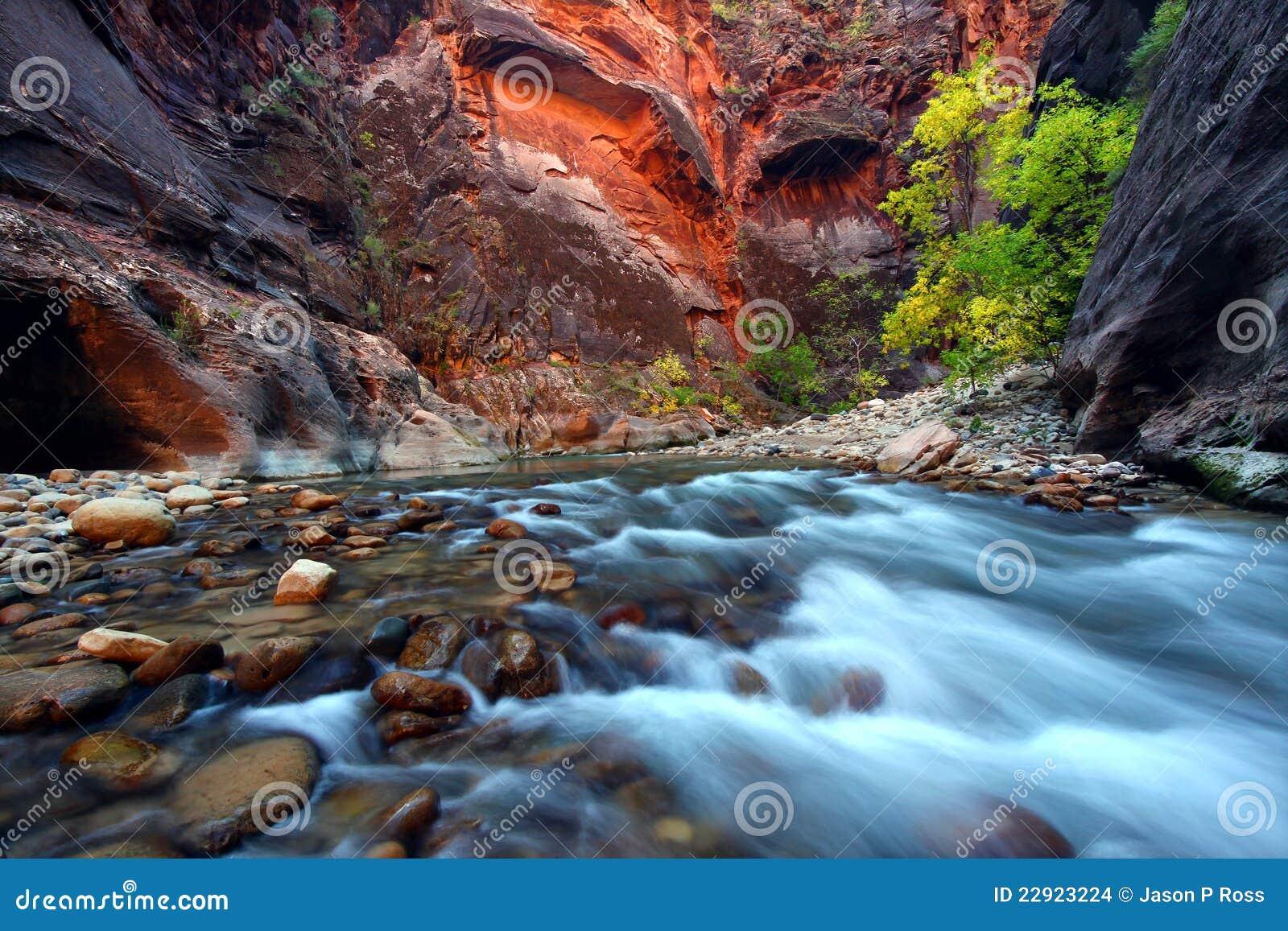 Kanjonen begränsar zion
