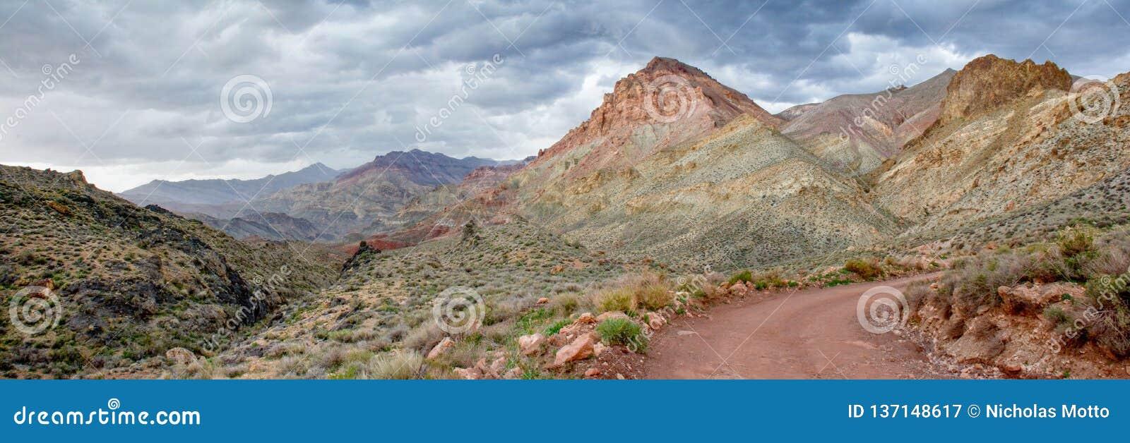 Kanjonpanorama för målad öken