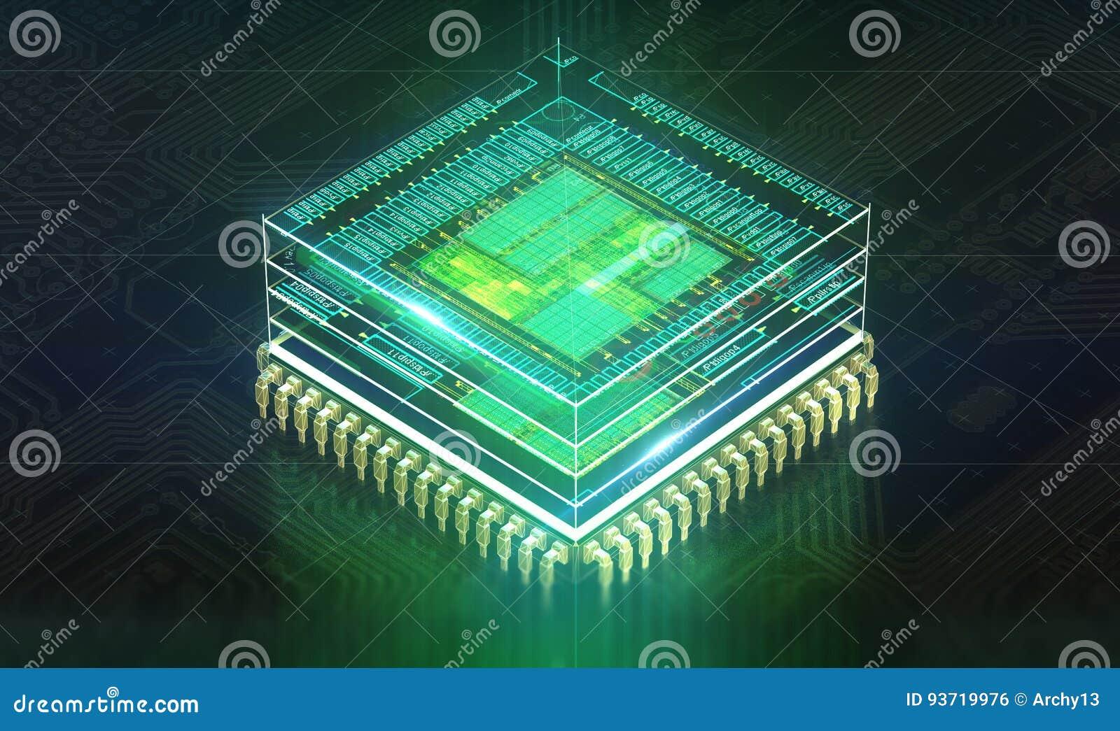 Kann als Hintergrund verwenden ElektronenrechenanlageGerätetechnik Digitaler Chip des Motherboards Hintergrund der Technologiewis
