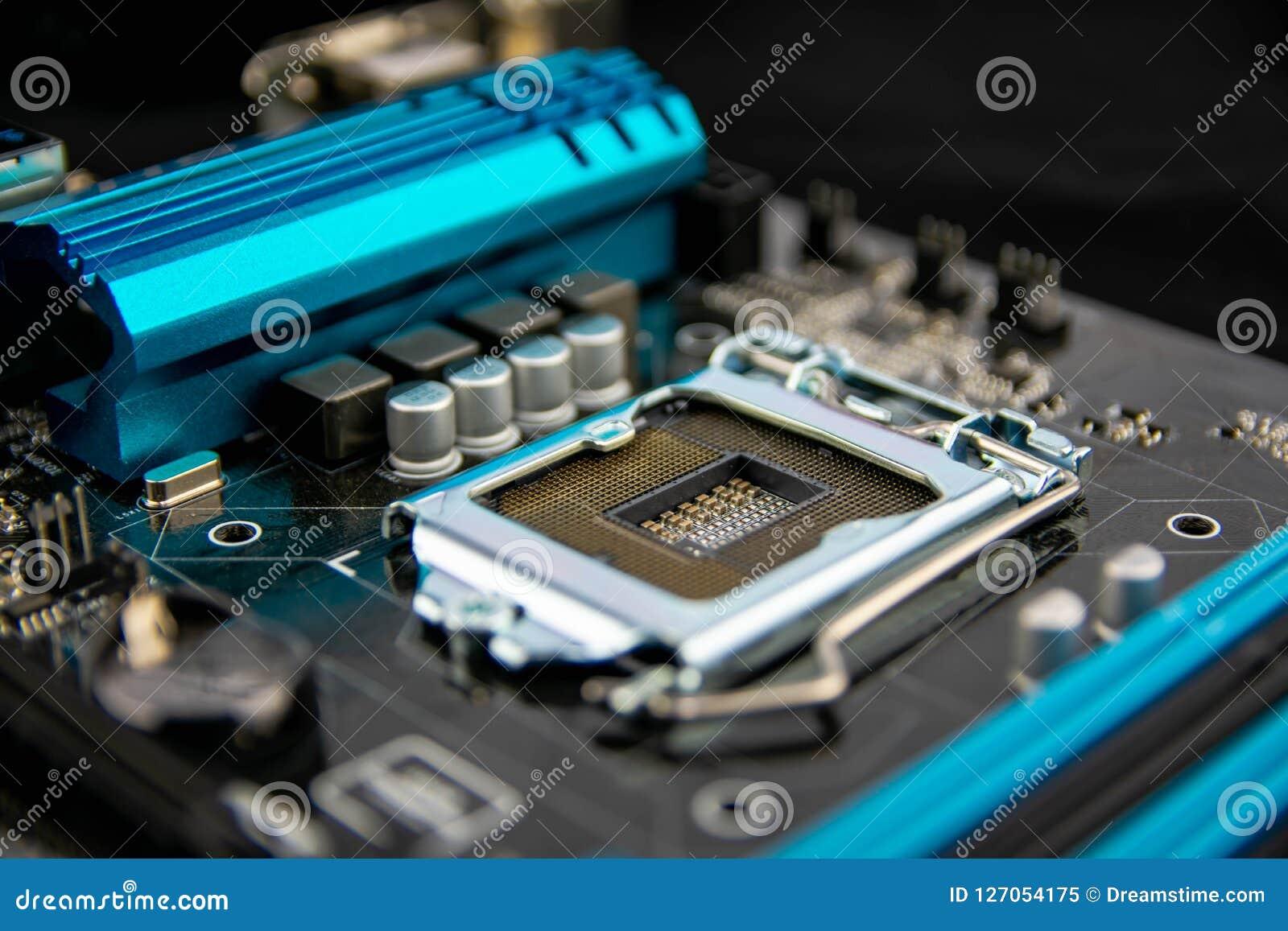 Kann als Hintergrund verwenden ElektronenrechenanlageGerätetechnik Digitaler Chip des Motherboards Moderner Technologiehintergrun