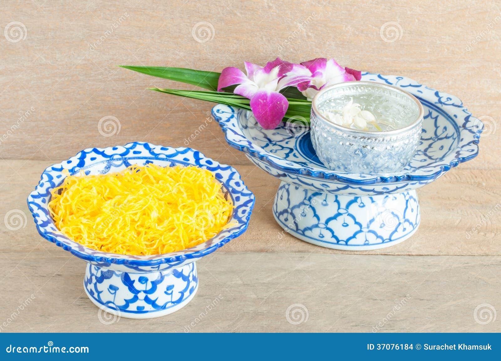 Download Kanom Foythong zdjęcie stock. Obraz złożonej z kwiat - 37076184