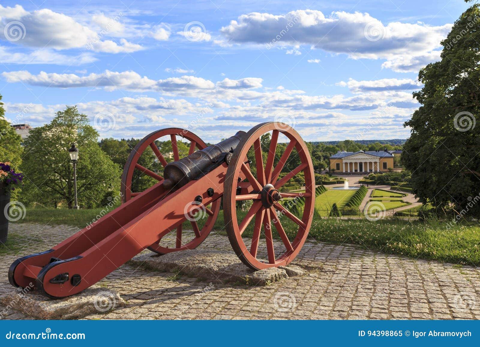 Kanon av den västra bastionen av den Uppsala slotten, Sverige