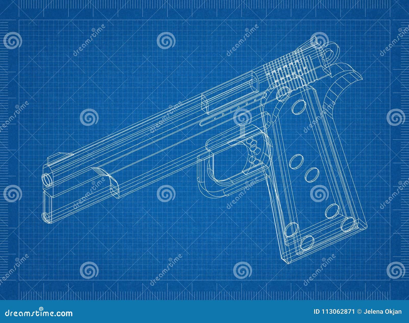Kanon 3D blauwdruk