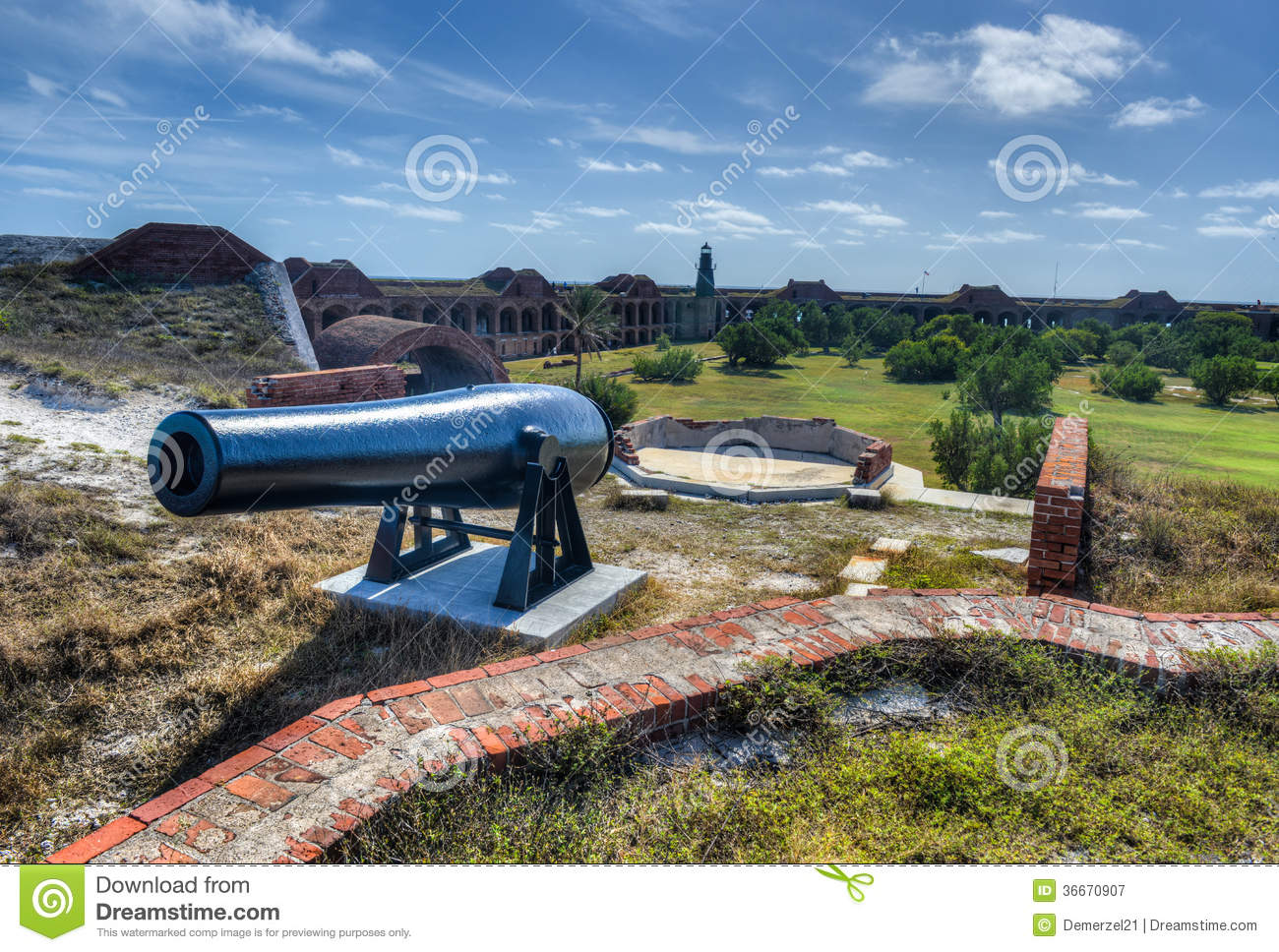 Kanon in Fort Jefferson, Florida