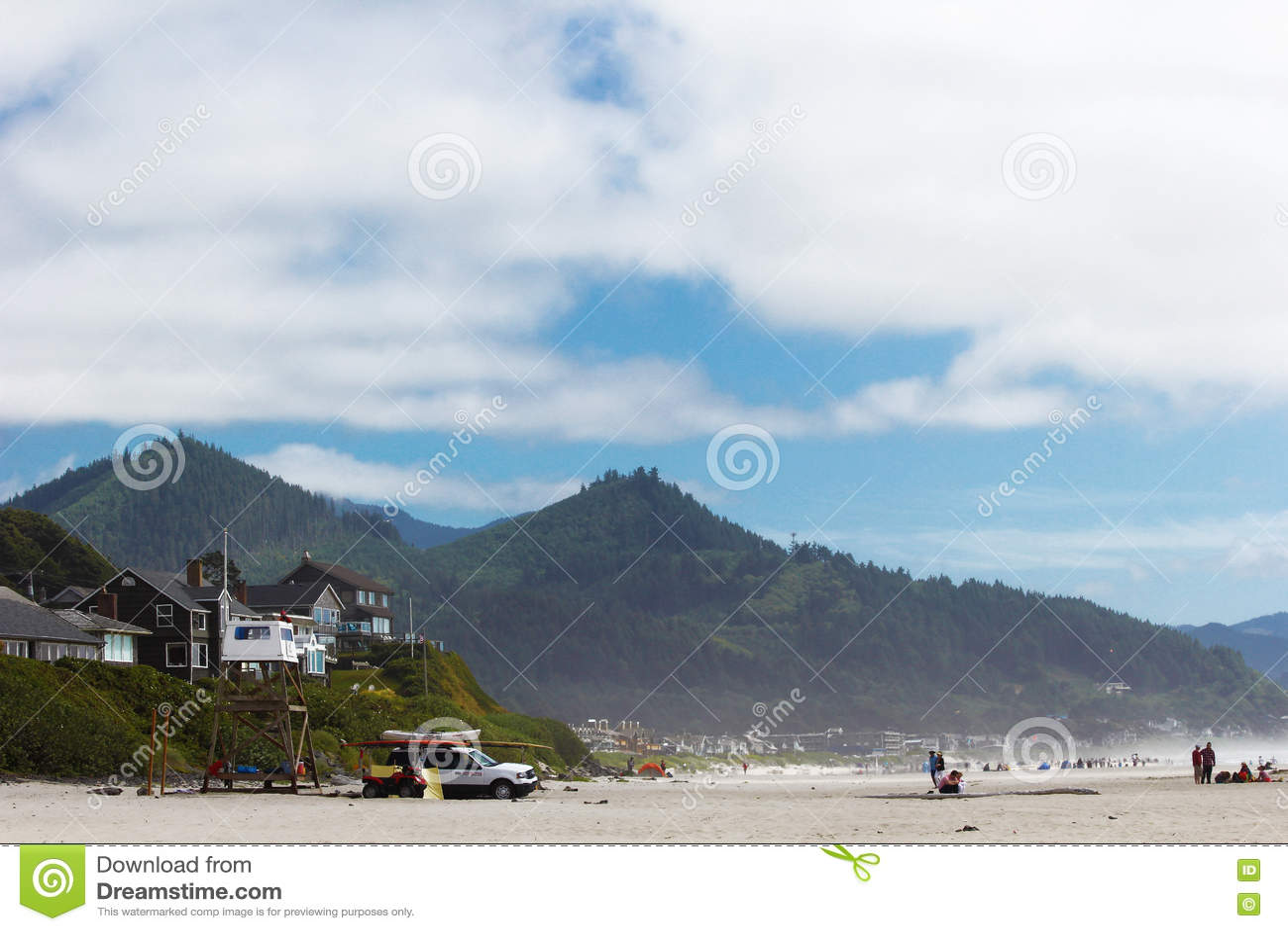 Kanone-Strand in Oregon