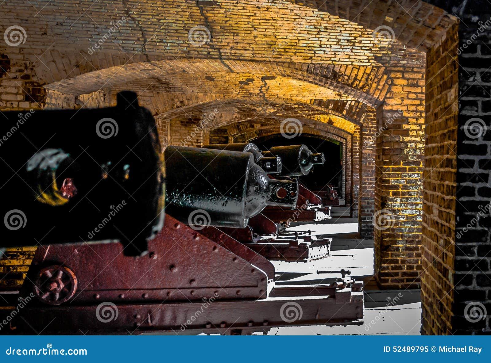 Kanonen Linie Des 19 Jahrhunderts Stockfoto Bild 52489795