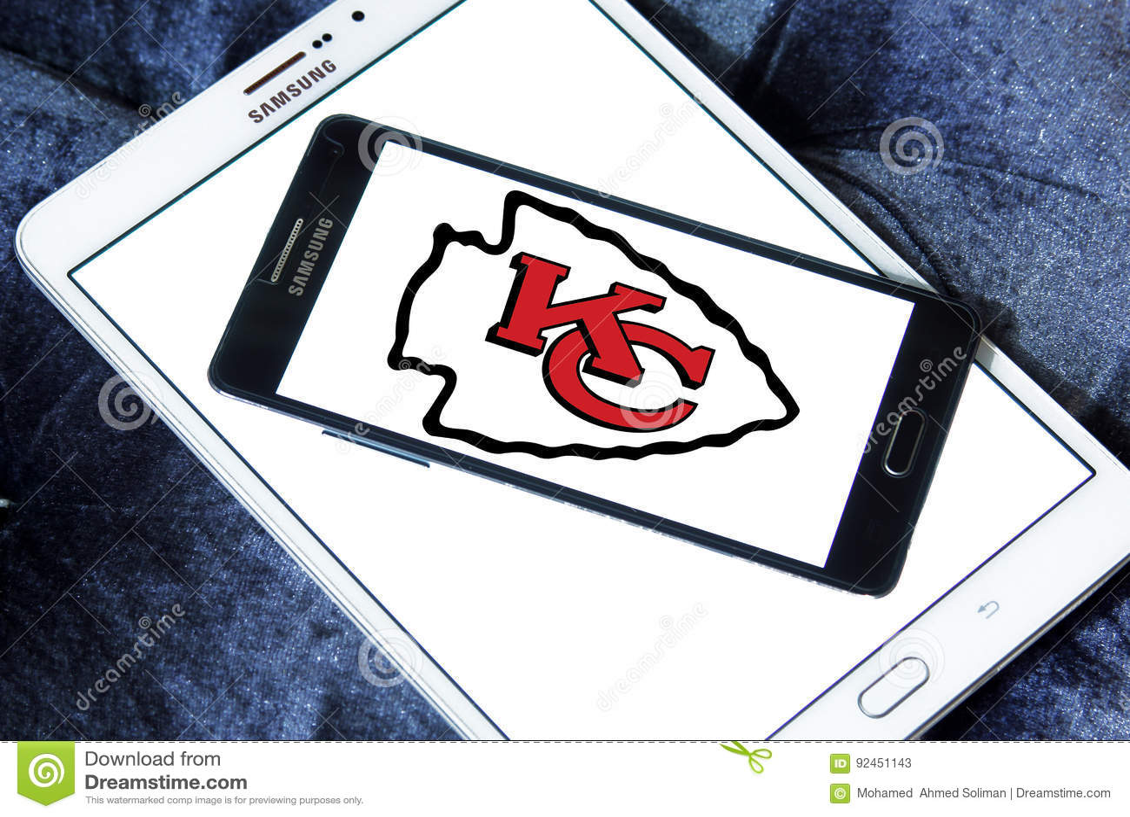 Kansas City Chiefs American Football Team Logo Editorial Stock Photo