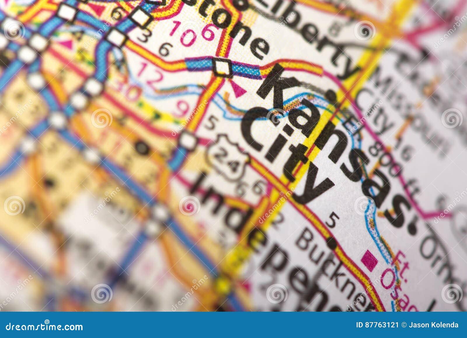 Kansas City, Missouri na mapie