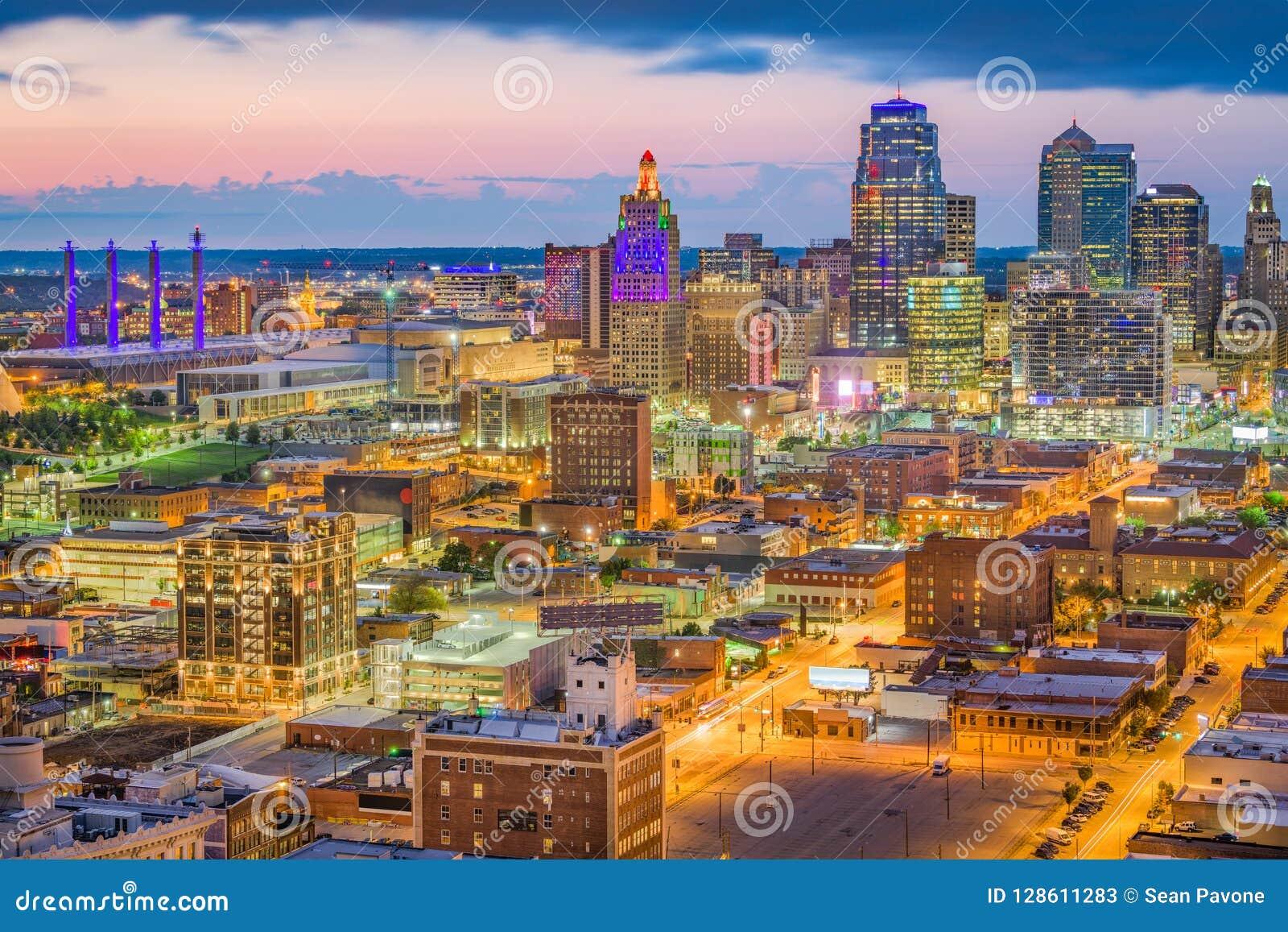 Kansas City, Missouri, usa linia horyzontu