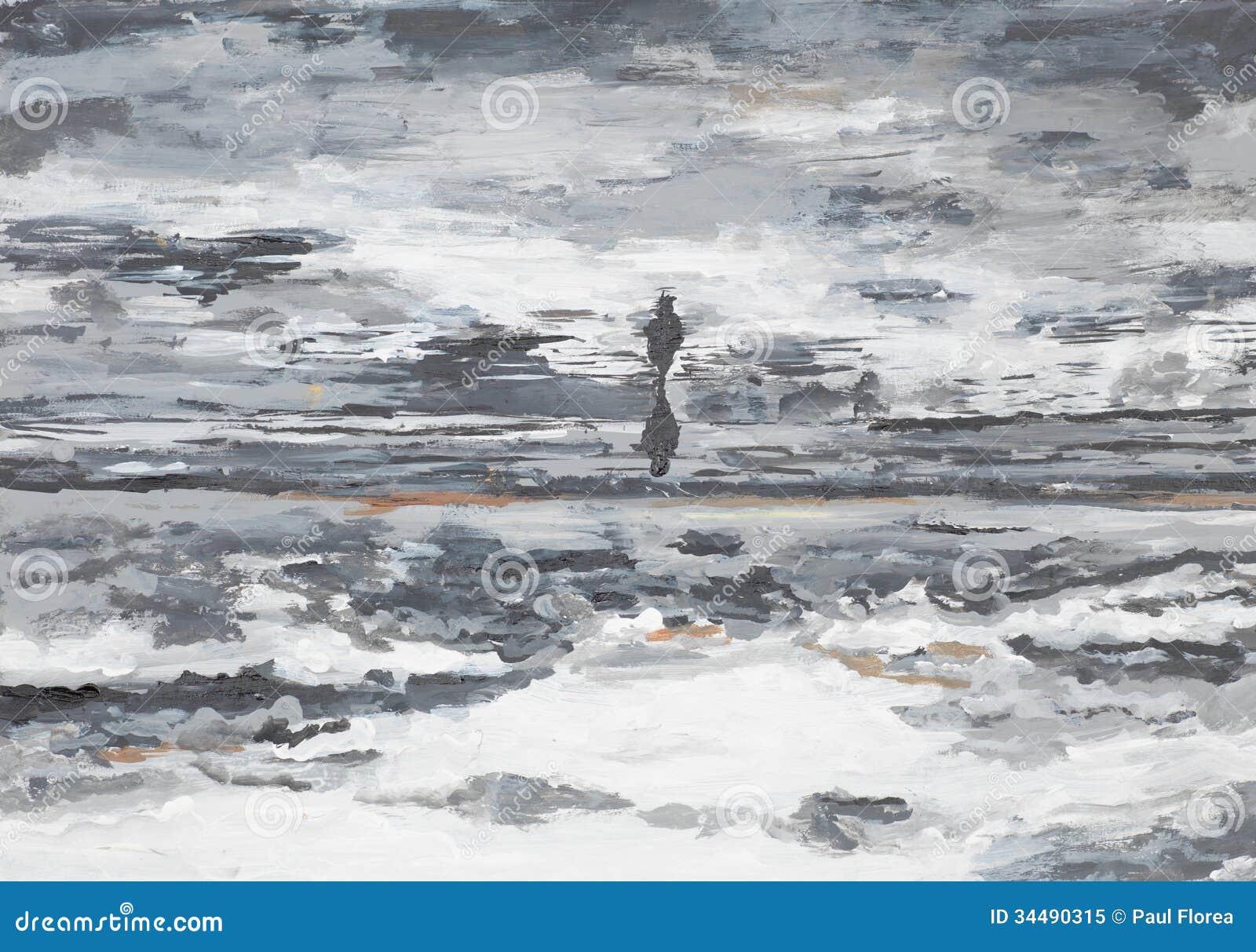 Kansdcape abstrato do beira-mar