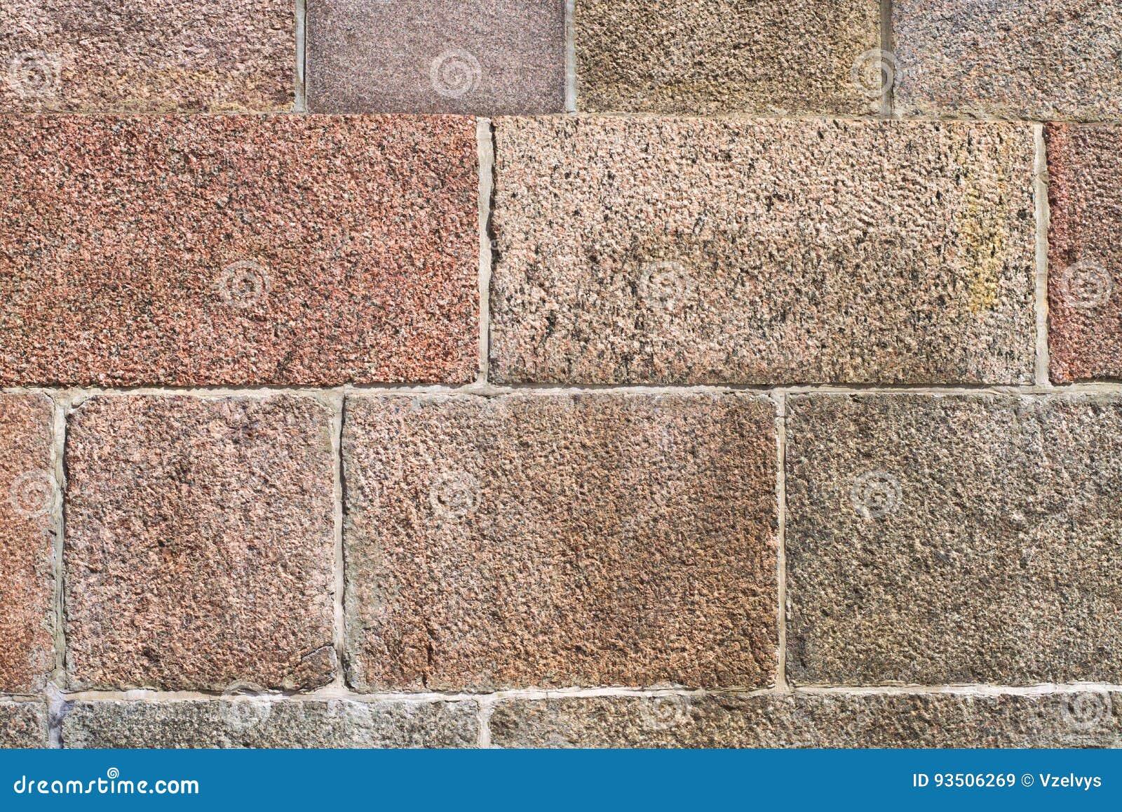 Kanstött bakgrund för stenvägg