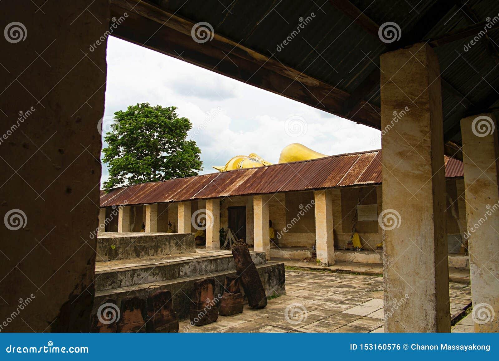 In kant van klooster oude Thaise Boeddhistische Tempel