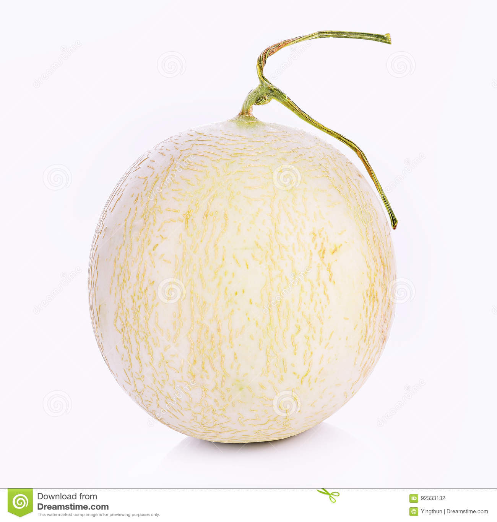 Kantalupa melon na białym tle