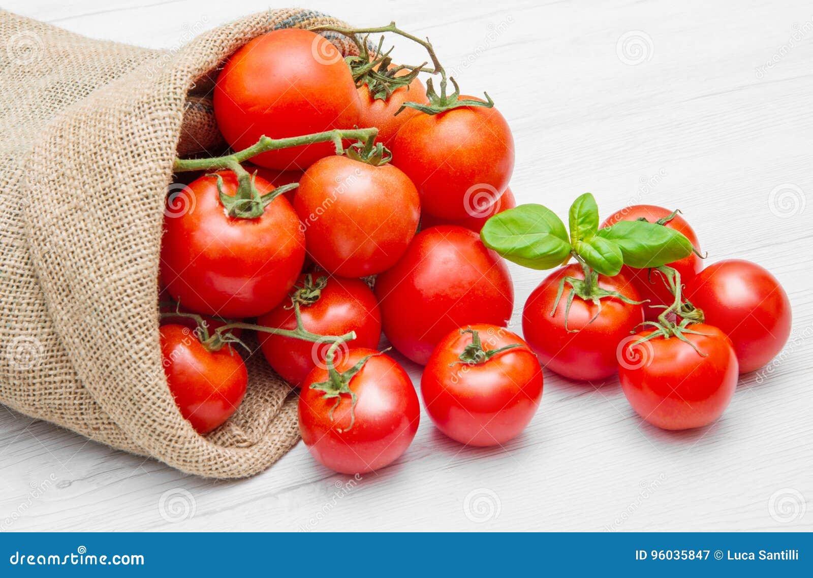 Kanwy workowy pełny czerwoni czereśniowi pomidory