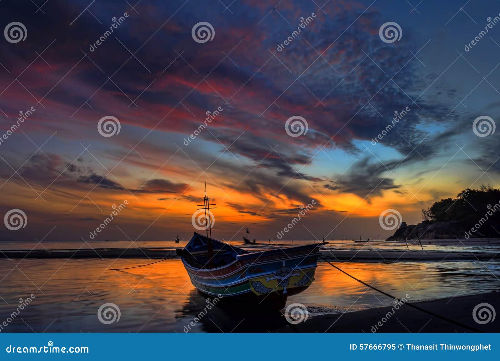 Kao Seng łodzi plaża