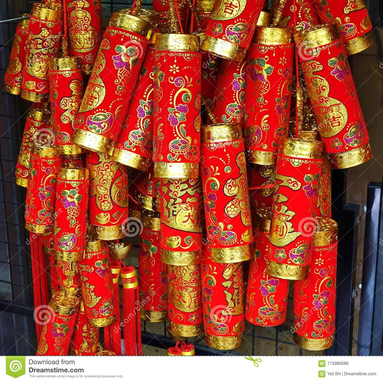 Decorations For The Chinese New Year Editorial Photo Image Of