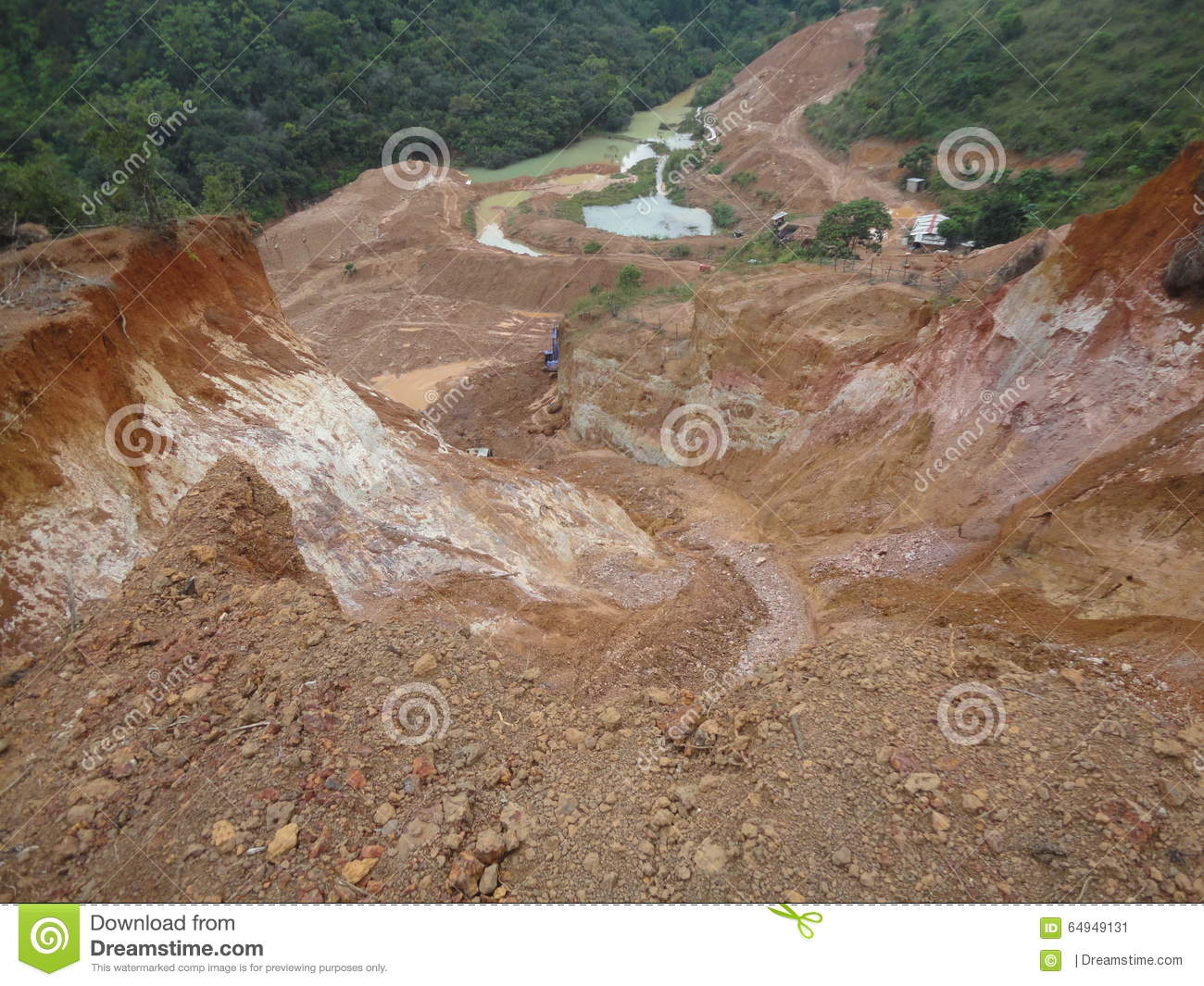 Kaolin Mines stock image. Image of cookware, ceramic - 64949131