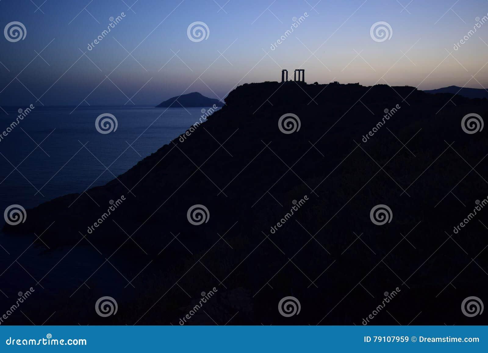 Kap Sounion der altgriechische Tempel von Poseidon