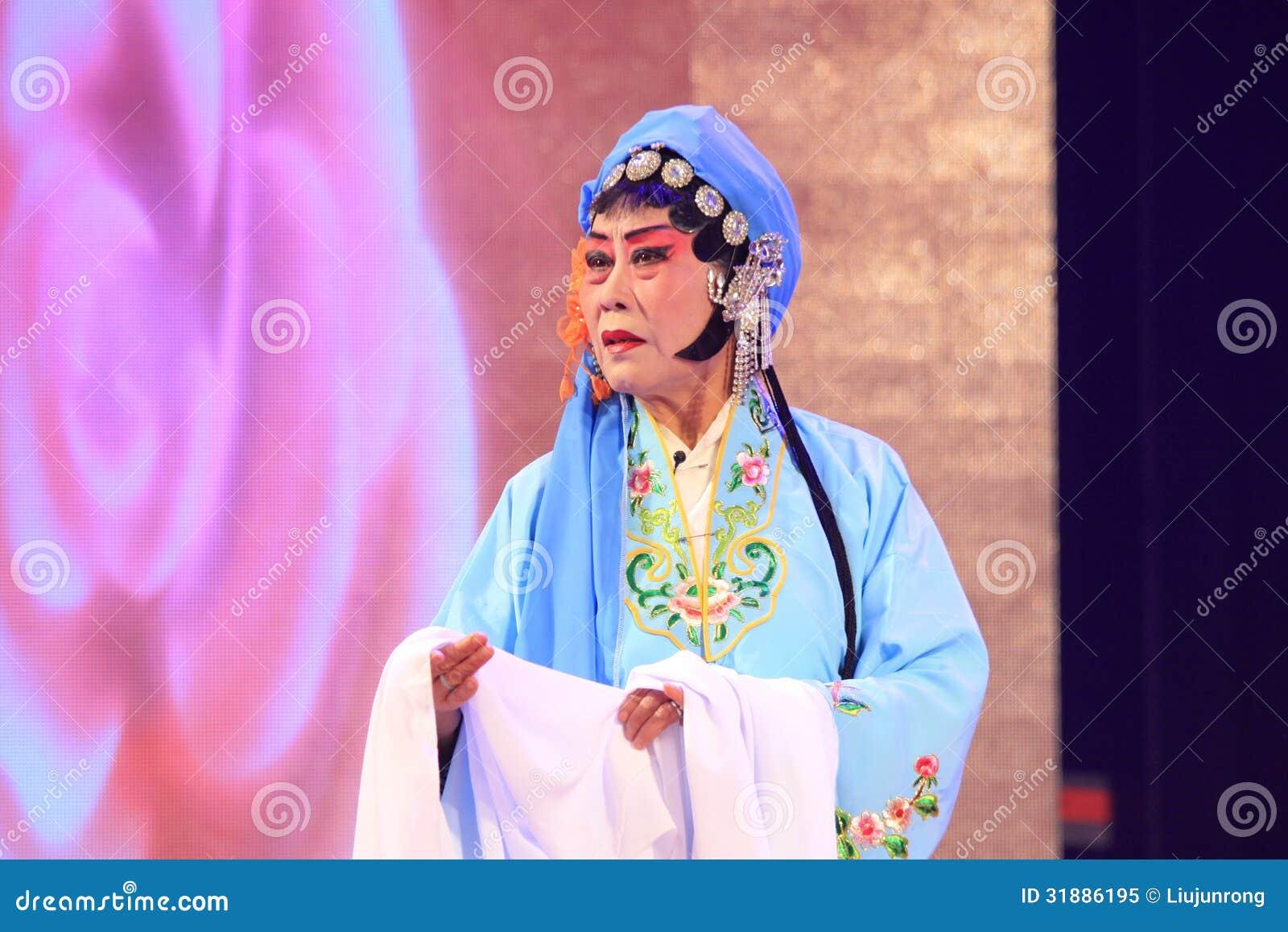 Kapacitet för kinesPingju opera i en teater