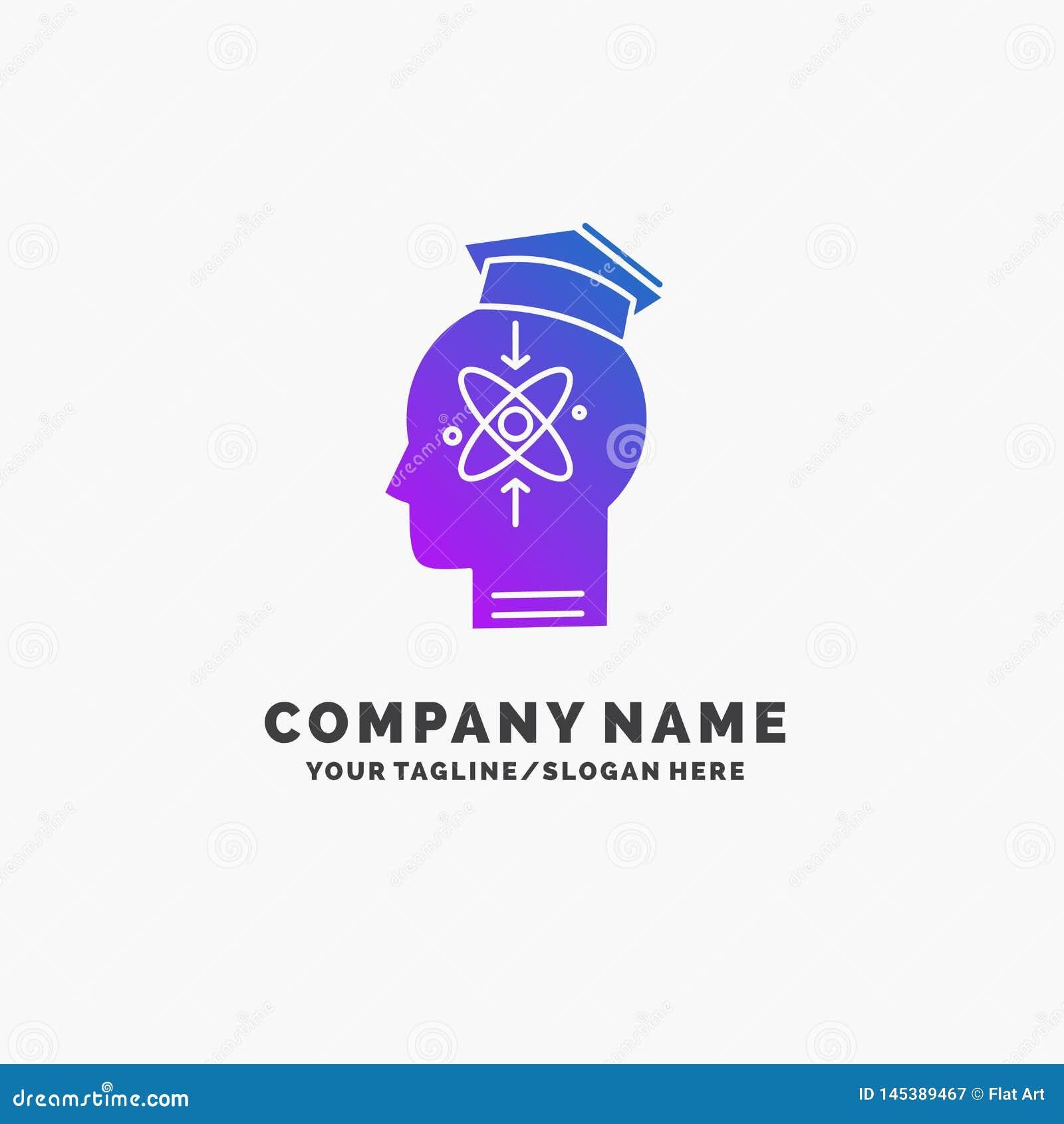 Kapacitet huvud, m?nniska, kunskap, expertislilaaff?r Logo Template St?lle f?r Tagline