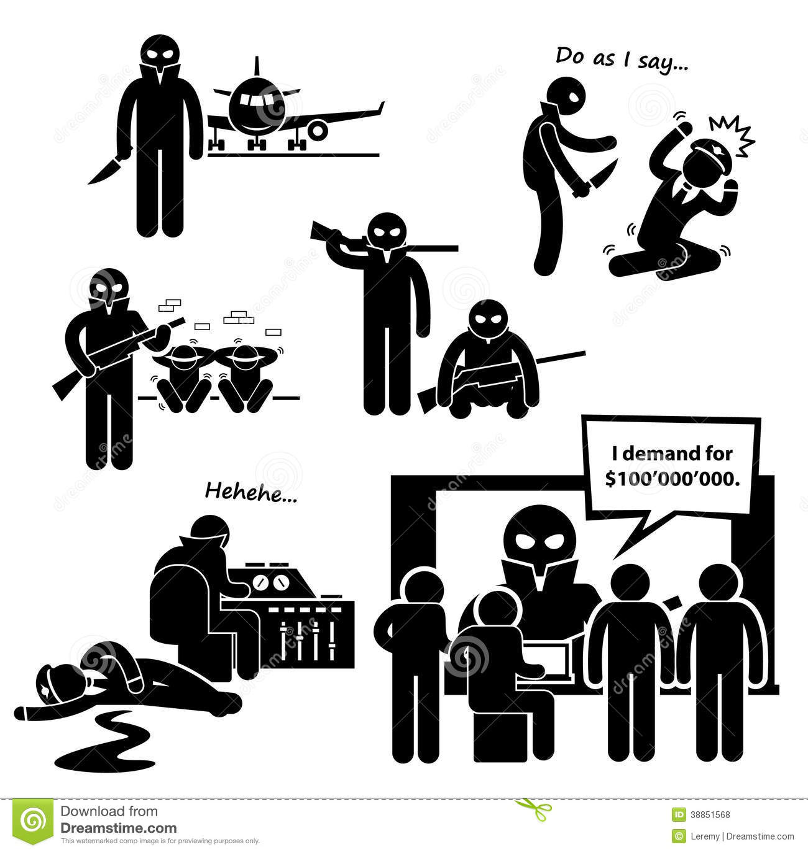 Kapareterrorist Airplane Clipart
