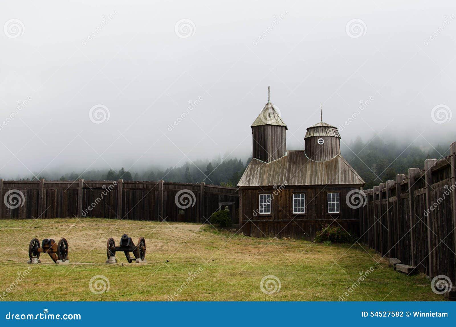 Kapel bij Fort Ross in Sonoma-Provincie