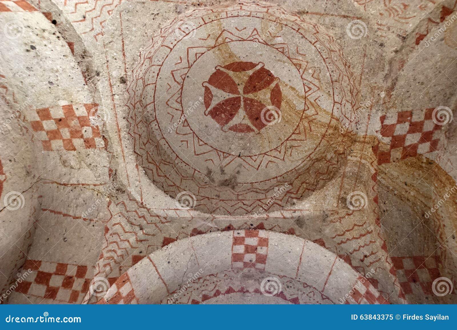 Kapel van St Barbara in Cappadocia, Turkije