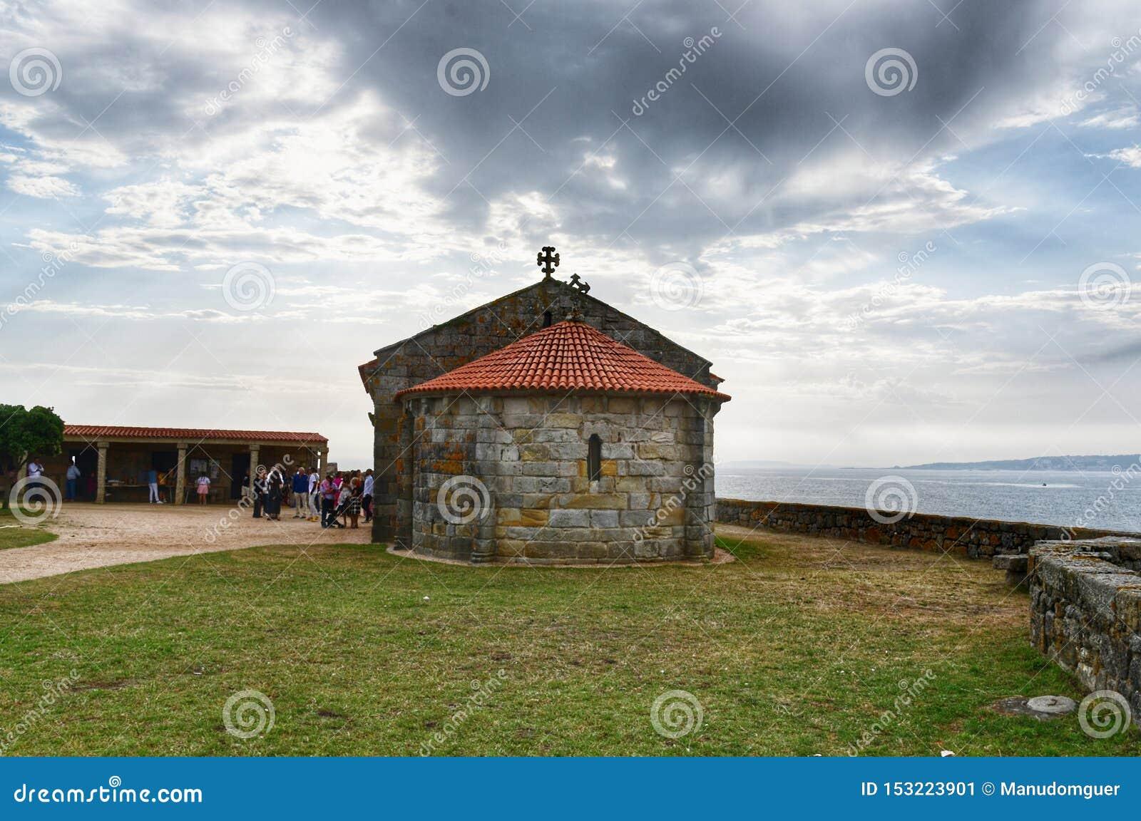 Kapelle unserer Dame von La Lanzada, Galizien Unsere Dame von La Lanzada-Kirche, Sanxenxo, Spanien