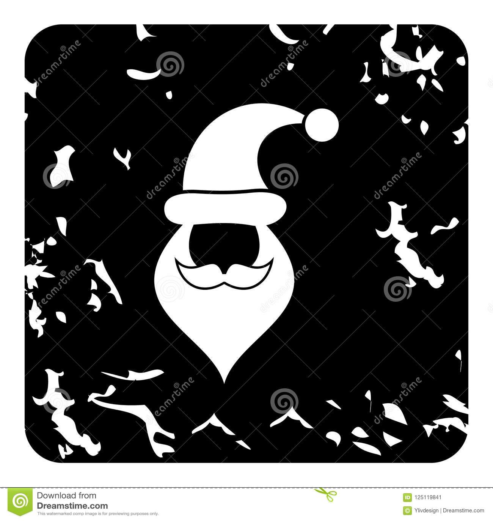 Kapelusz i broda z wąsy Święty Mikołaj ikona
