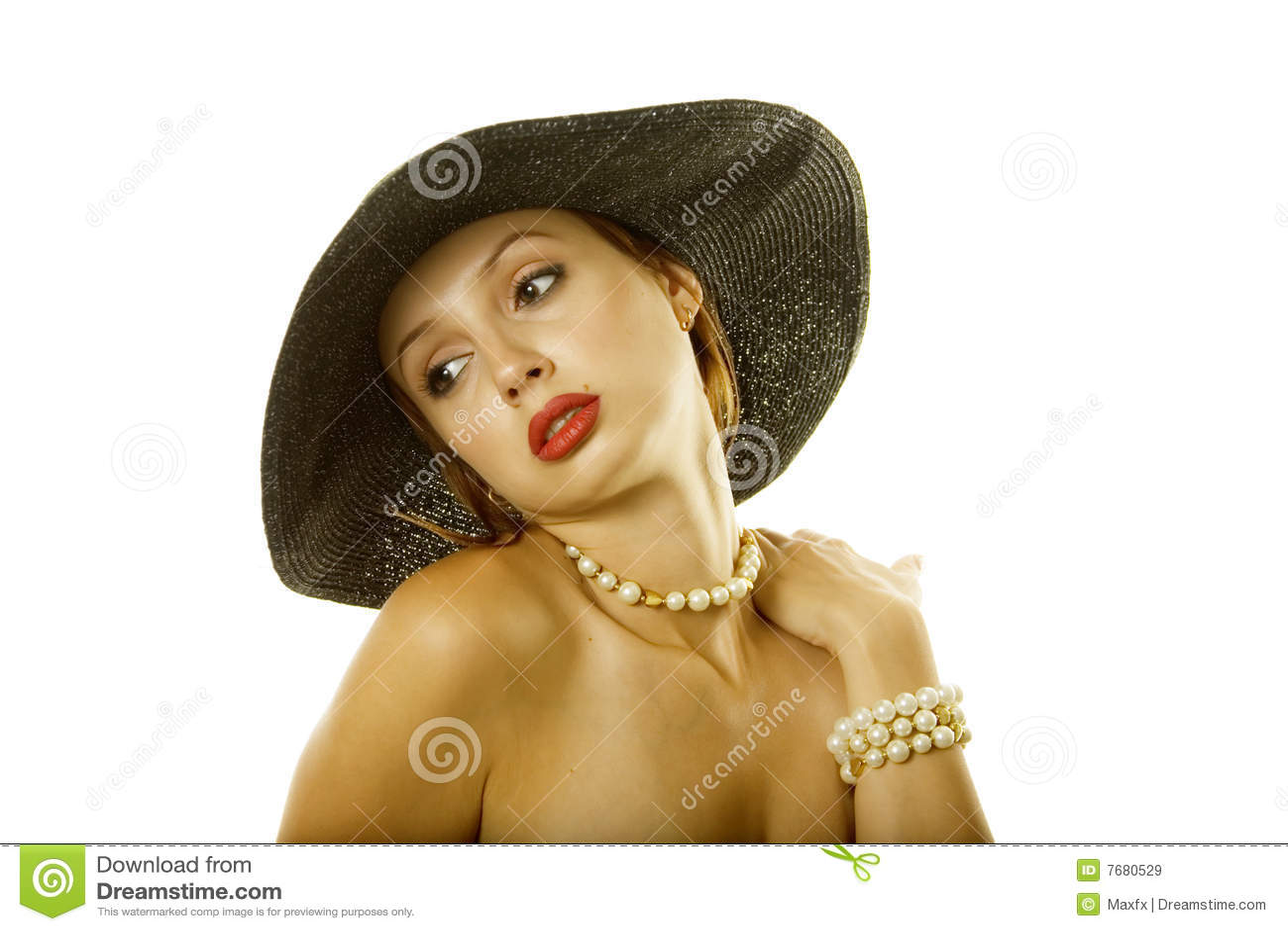 Kapeluszowa seksowna kobieta