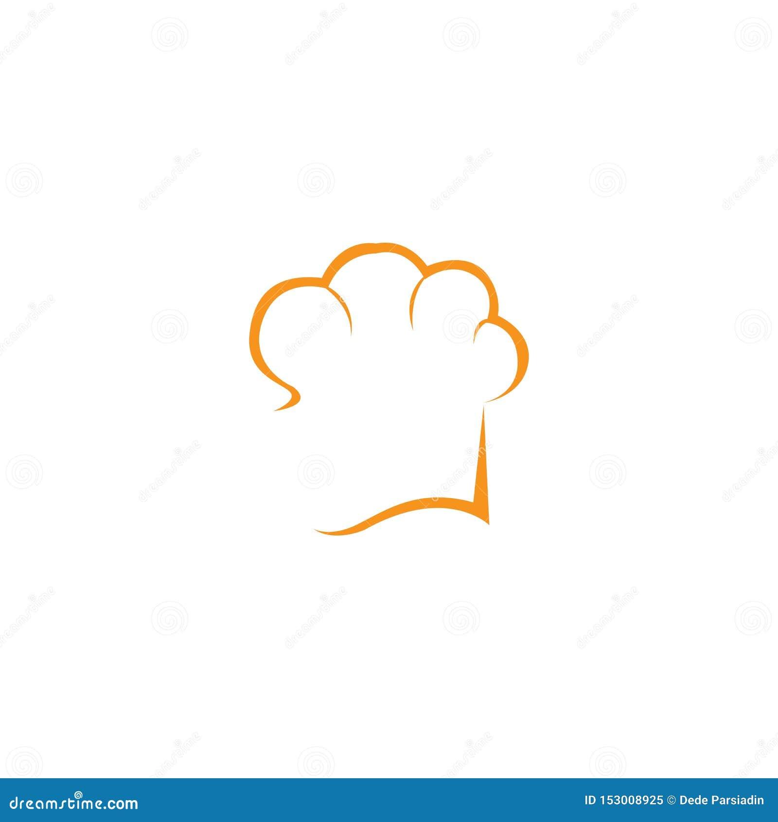 Kapeluszowy szefa kuchni loga szablon