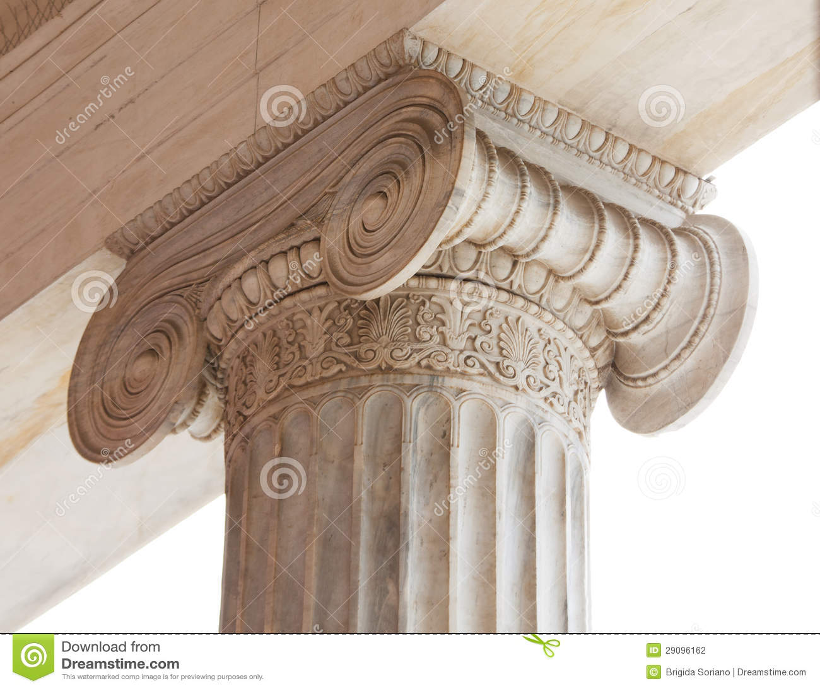 Kapitał Grecka neoklasyczna ionic kolumna