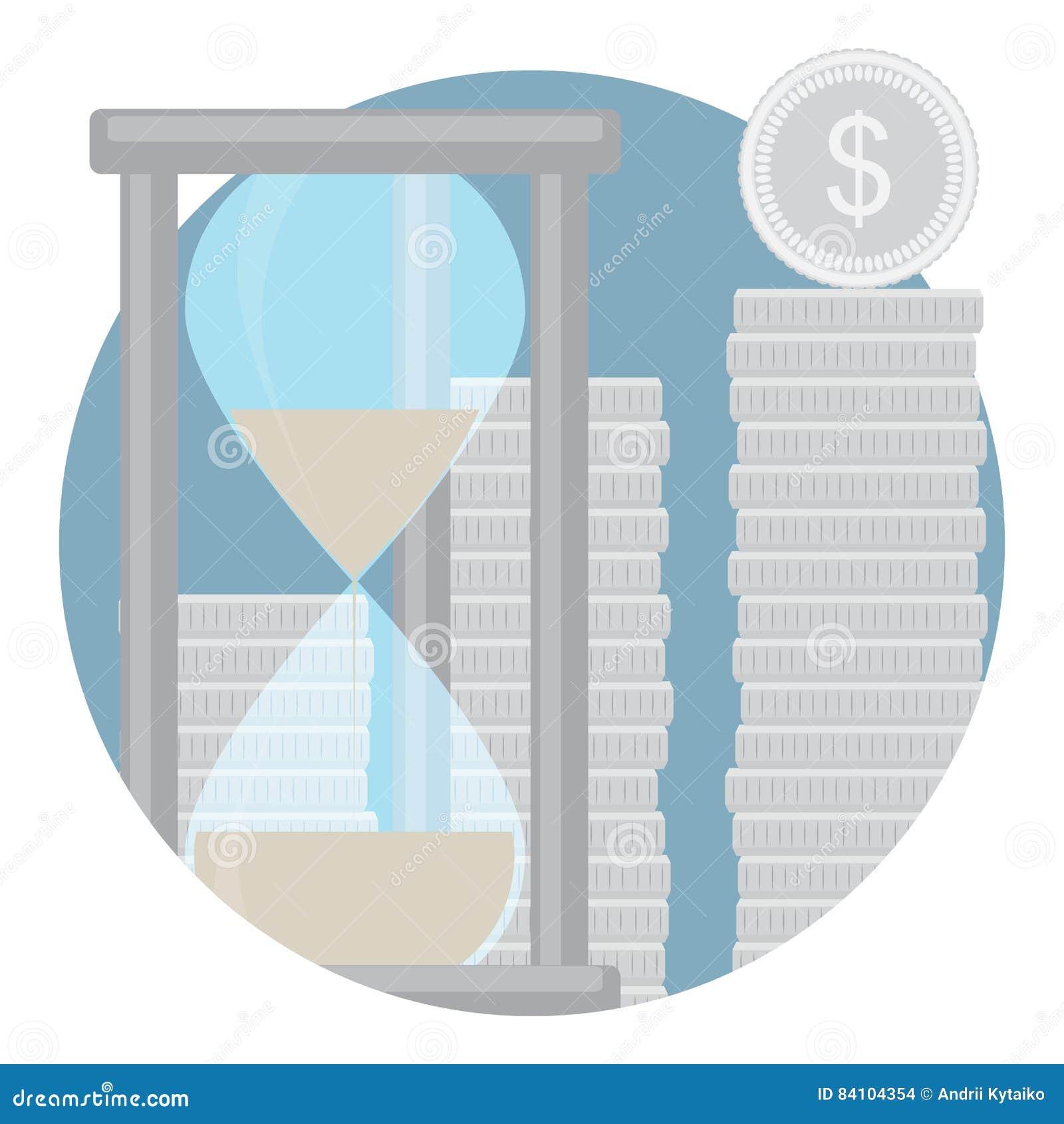 Kapitalisatie van het pictogram van contant geldstortingen
